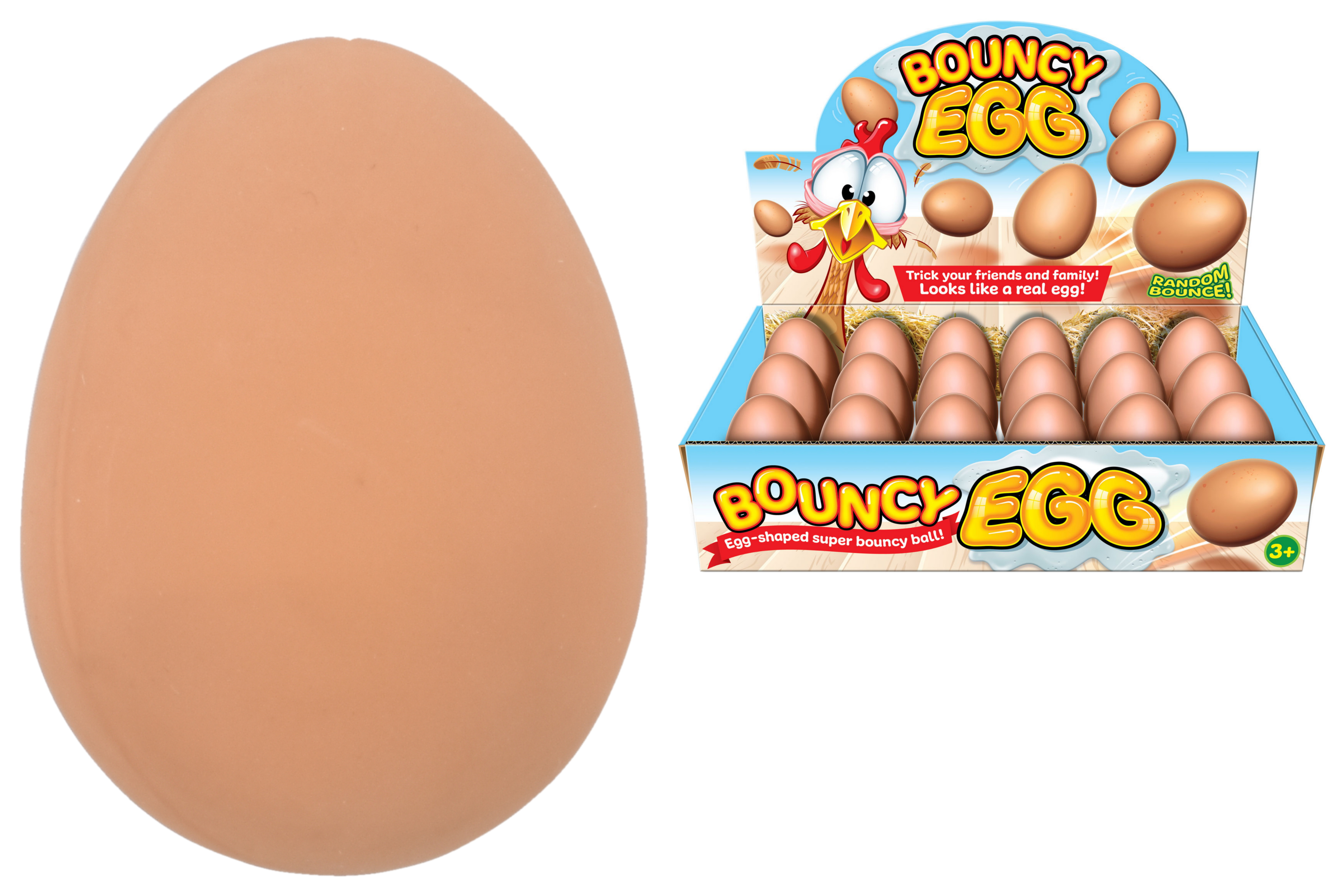 Egg Bounce Ball (56mm x 24mm) In Display Box