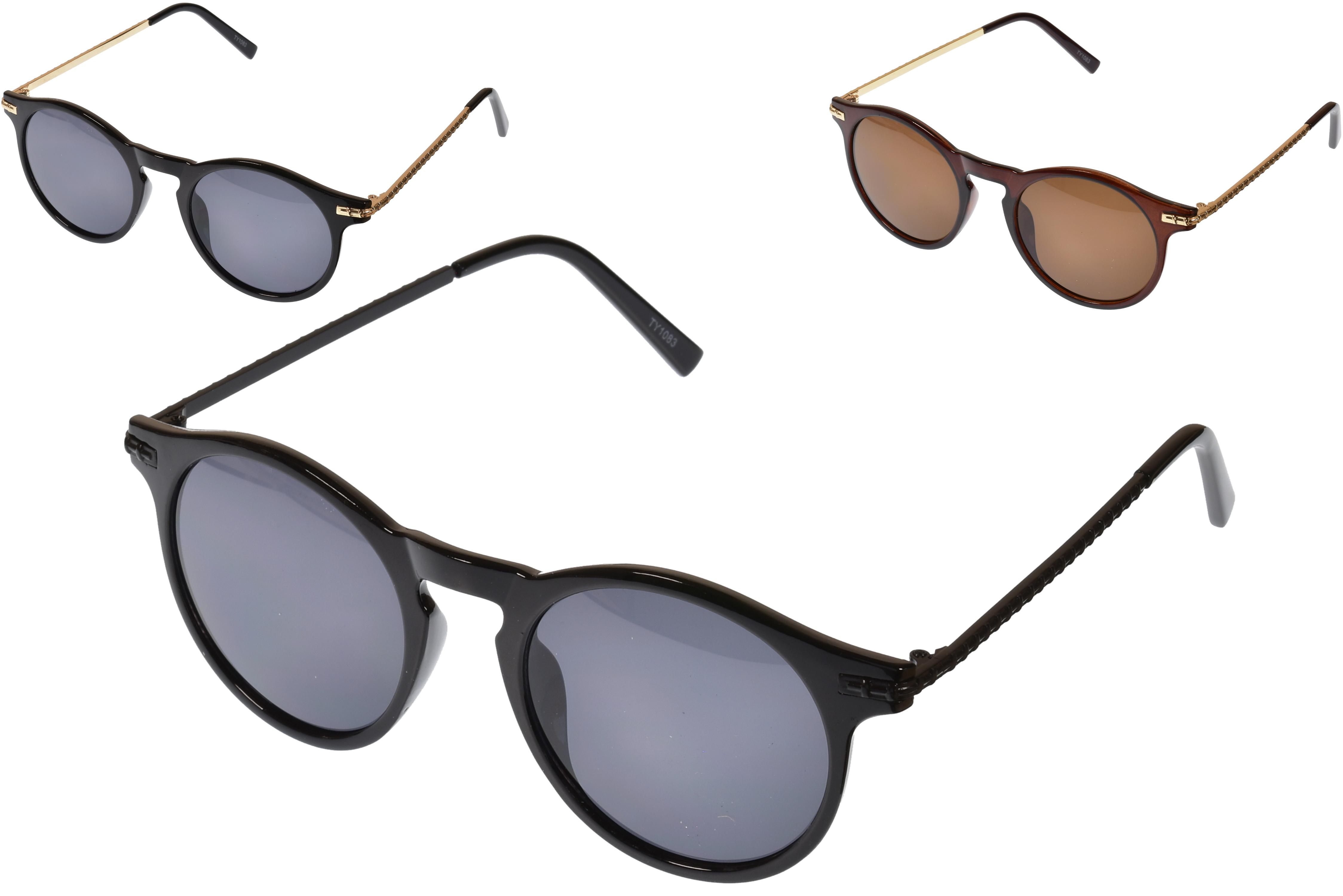 Ladies Large Lense Designer Sunglasses (3 Assorted)