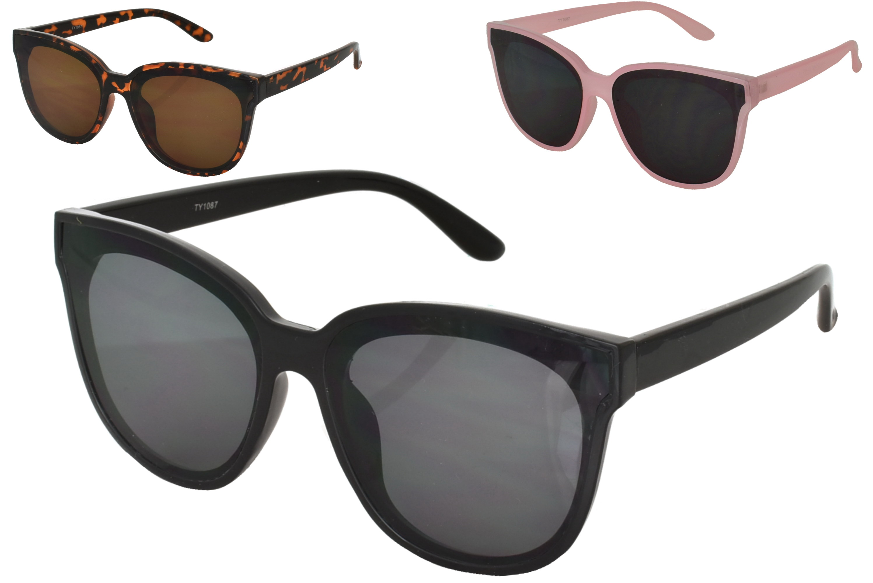 Adults Large Lense Designer Sunglasses (3 Assorted)