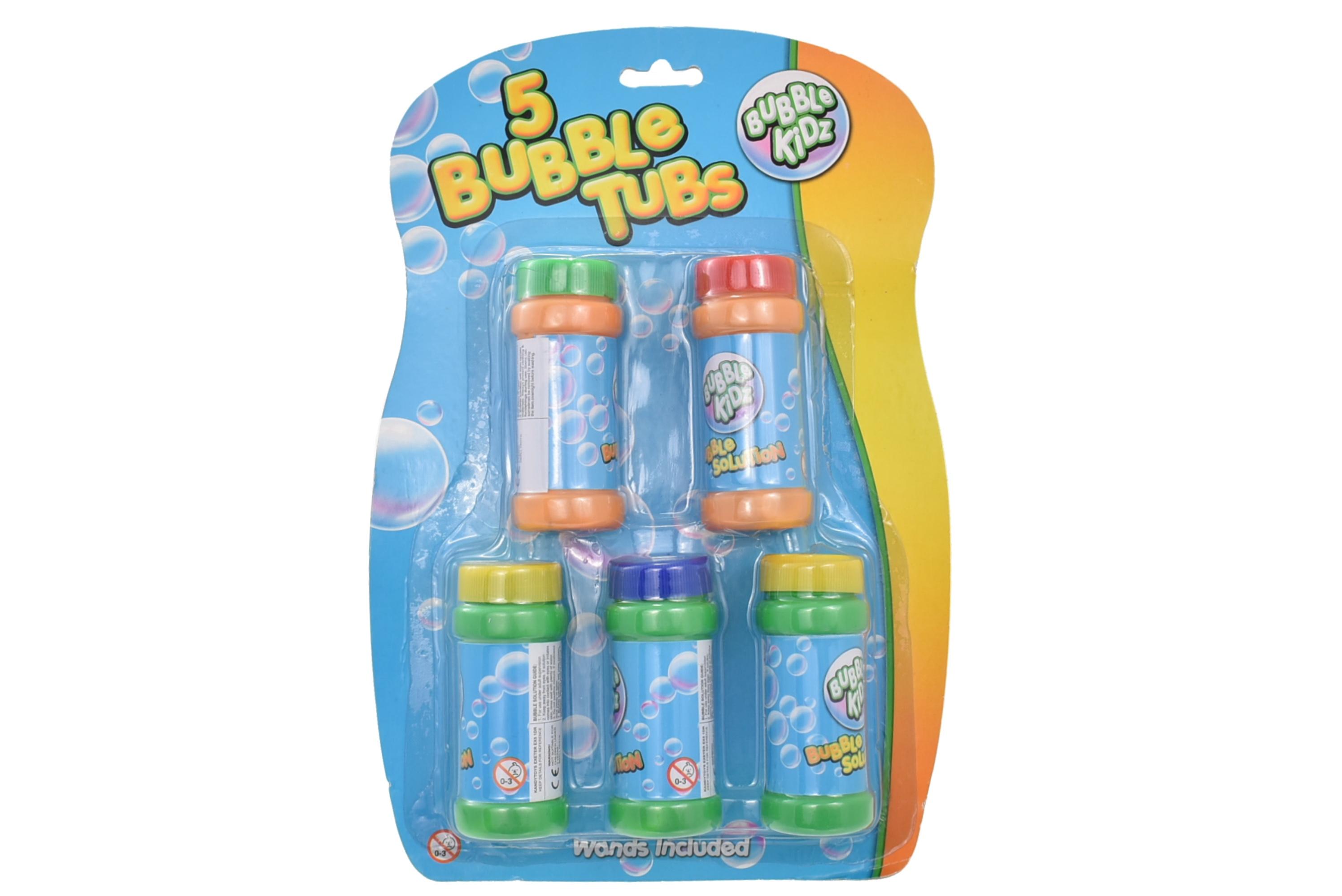 Bubbles 5 Tubs 2.3oz On Blistercard