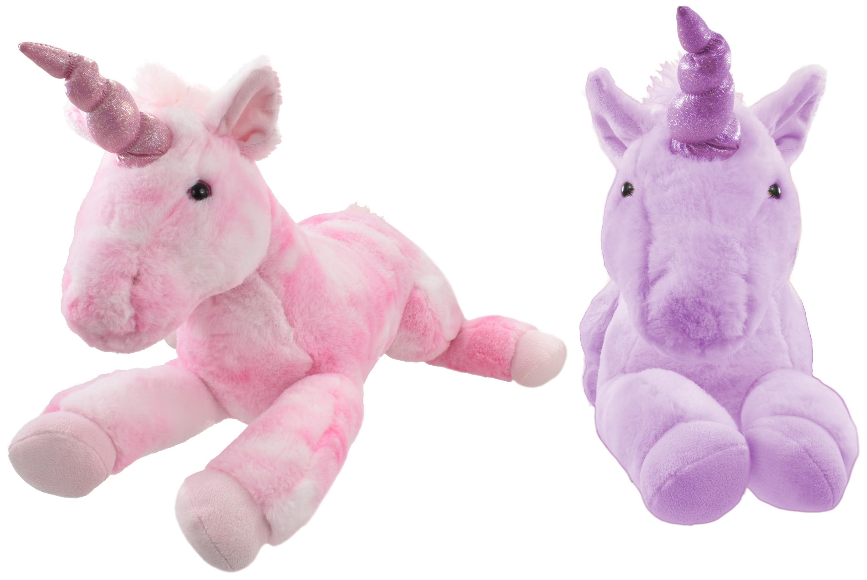 55cm Plush Lying Down Unicorns - 2 Assorted Colours