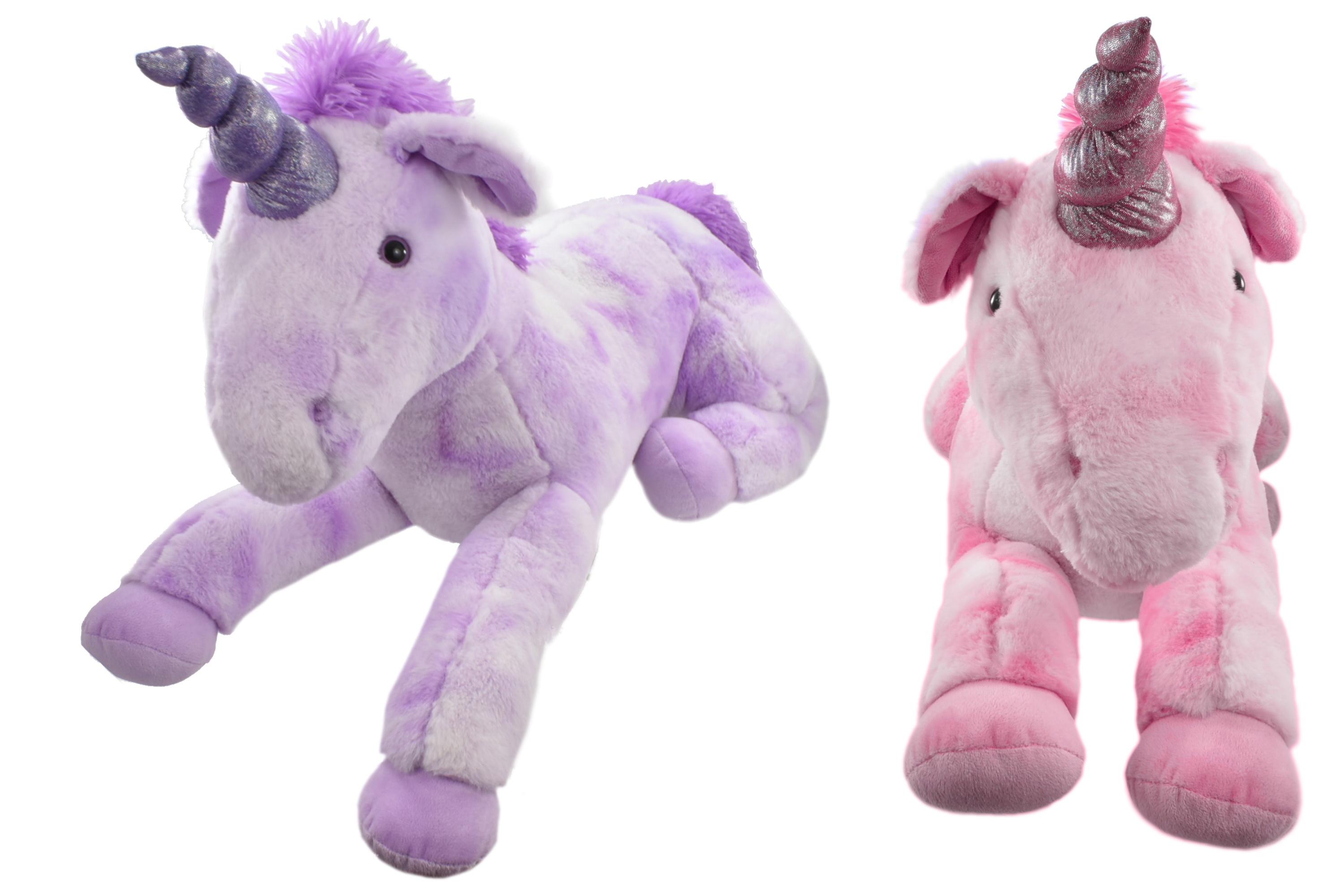 80cm Plush Lying Down Unicorns - 2 Assorted Colours