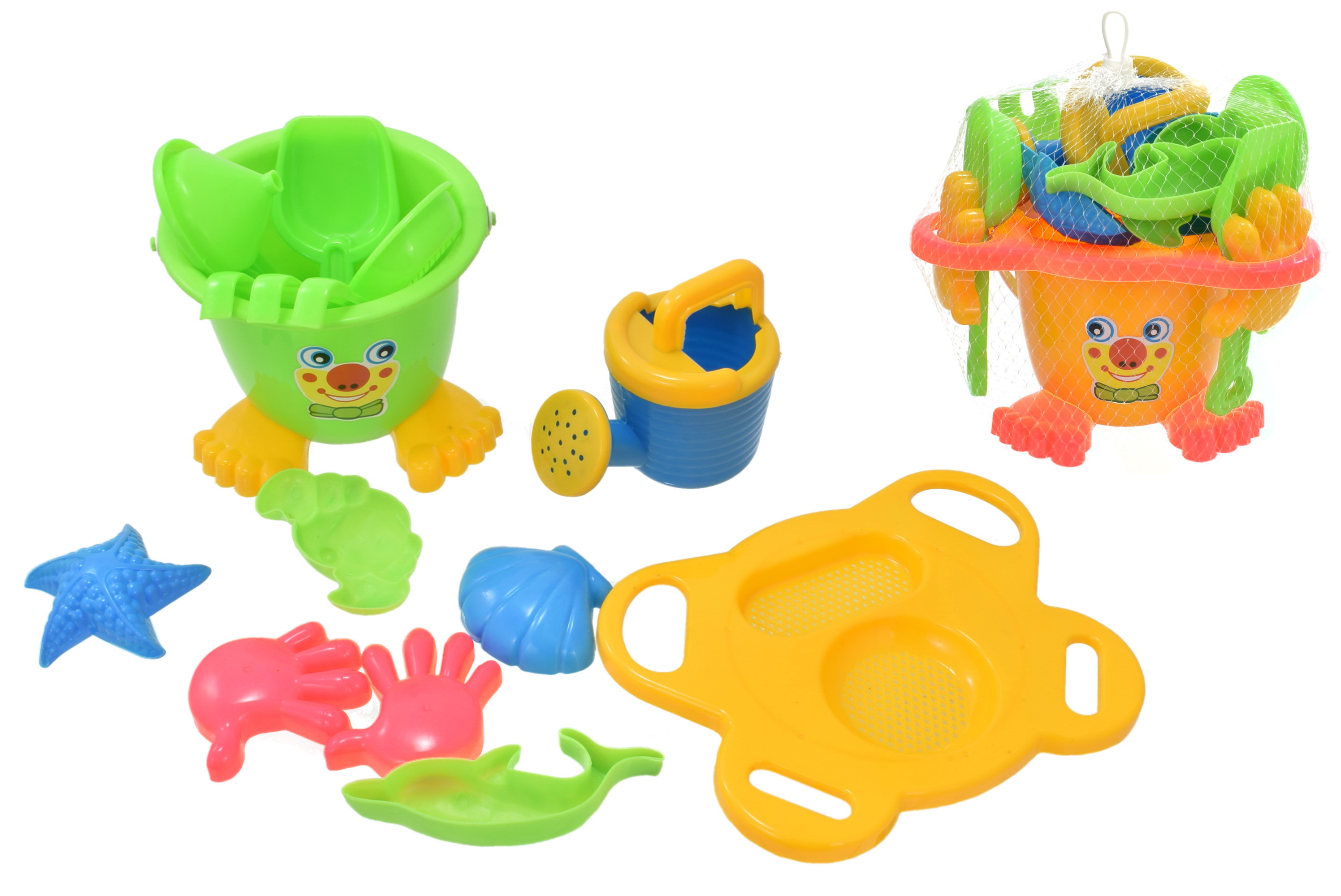 Smiley Face Bucket Set 15pc - Netted