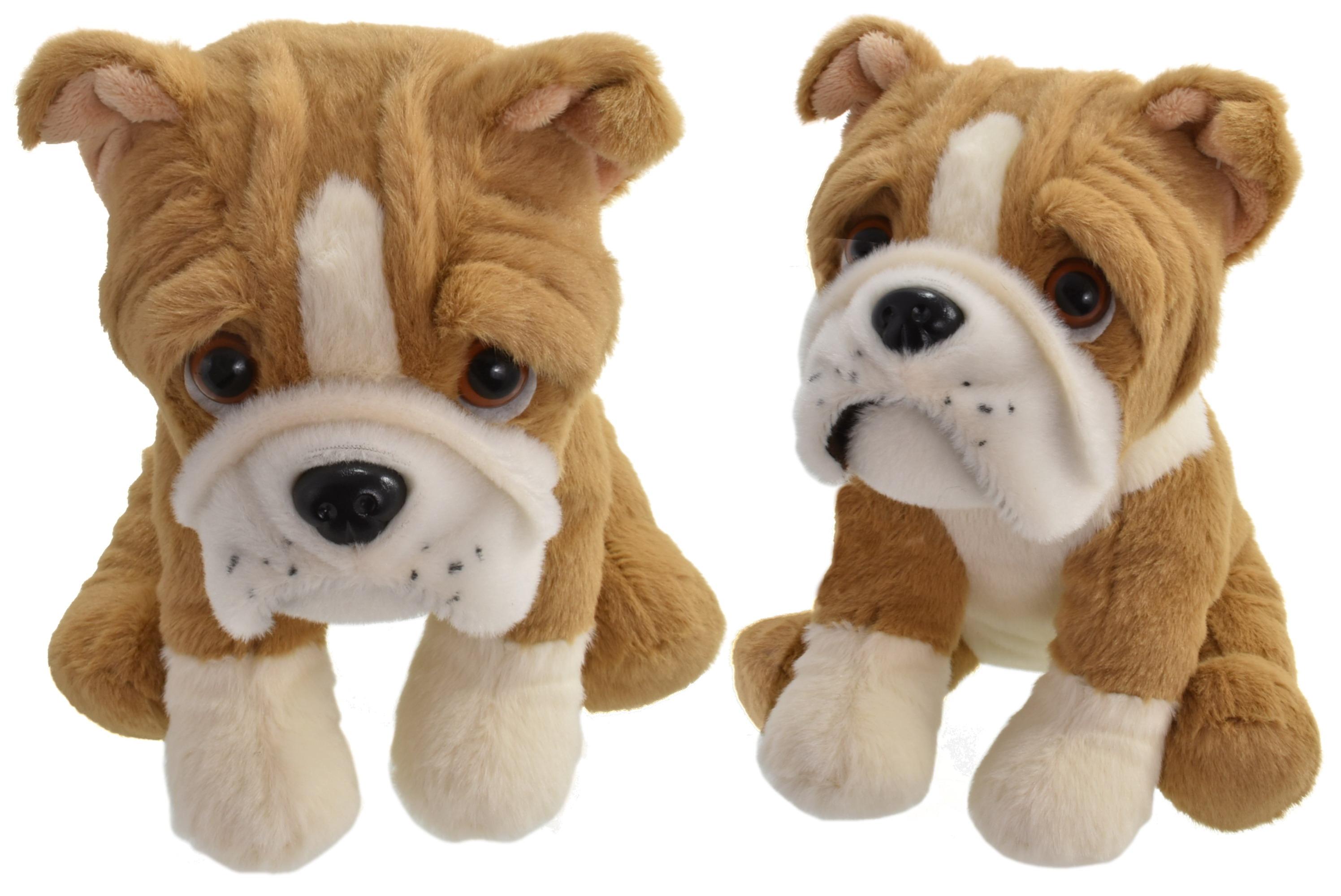 20cm Plush Sitting Pug Dog