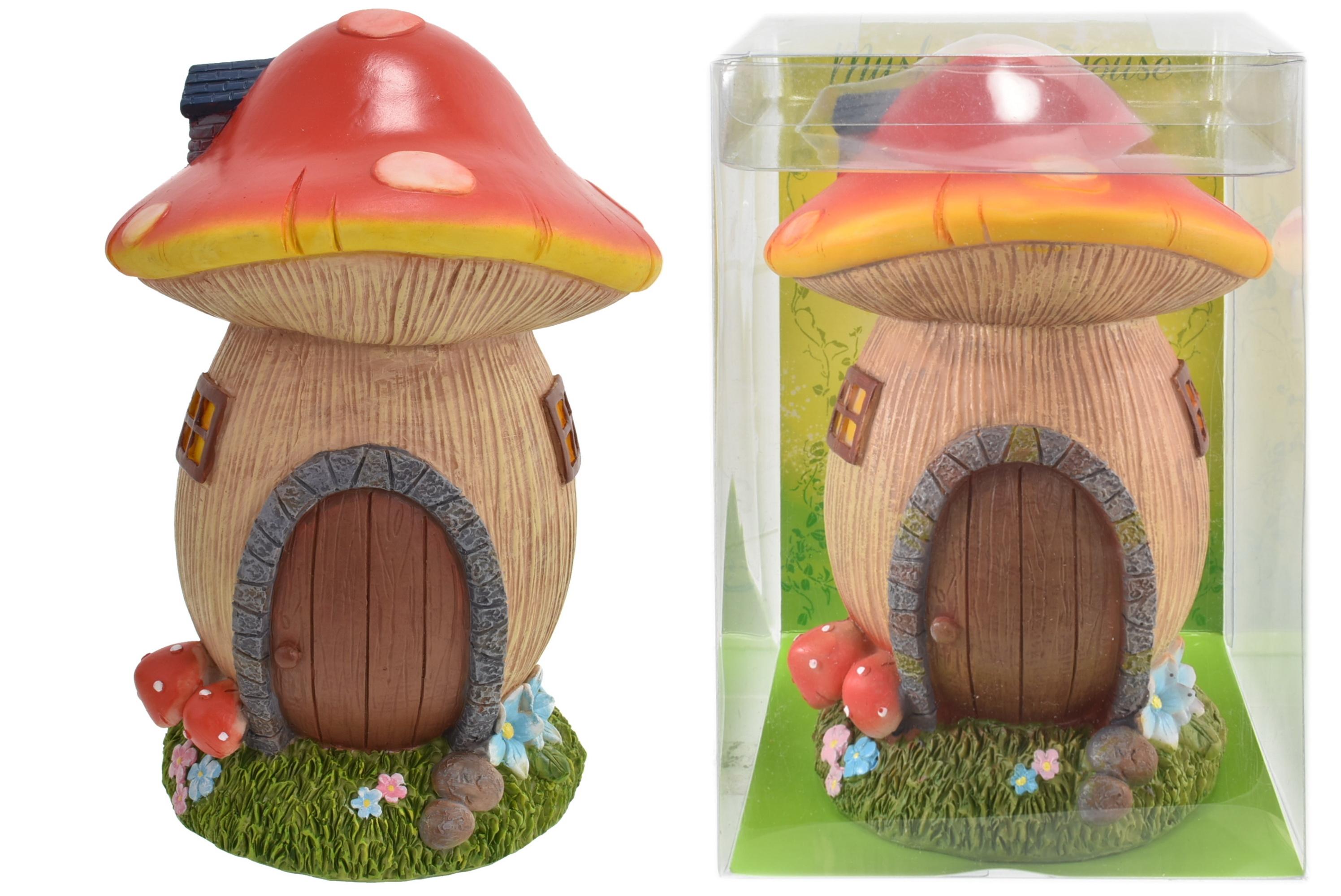 18cm Mushroom House In Acetate Box