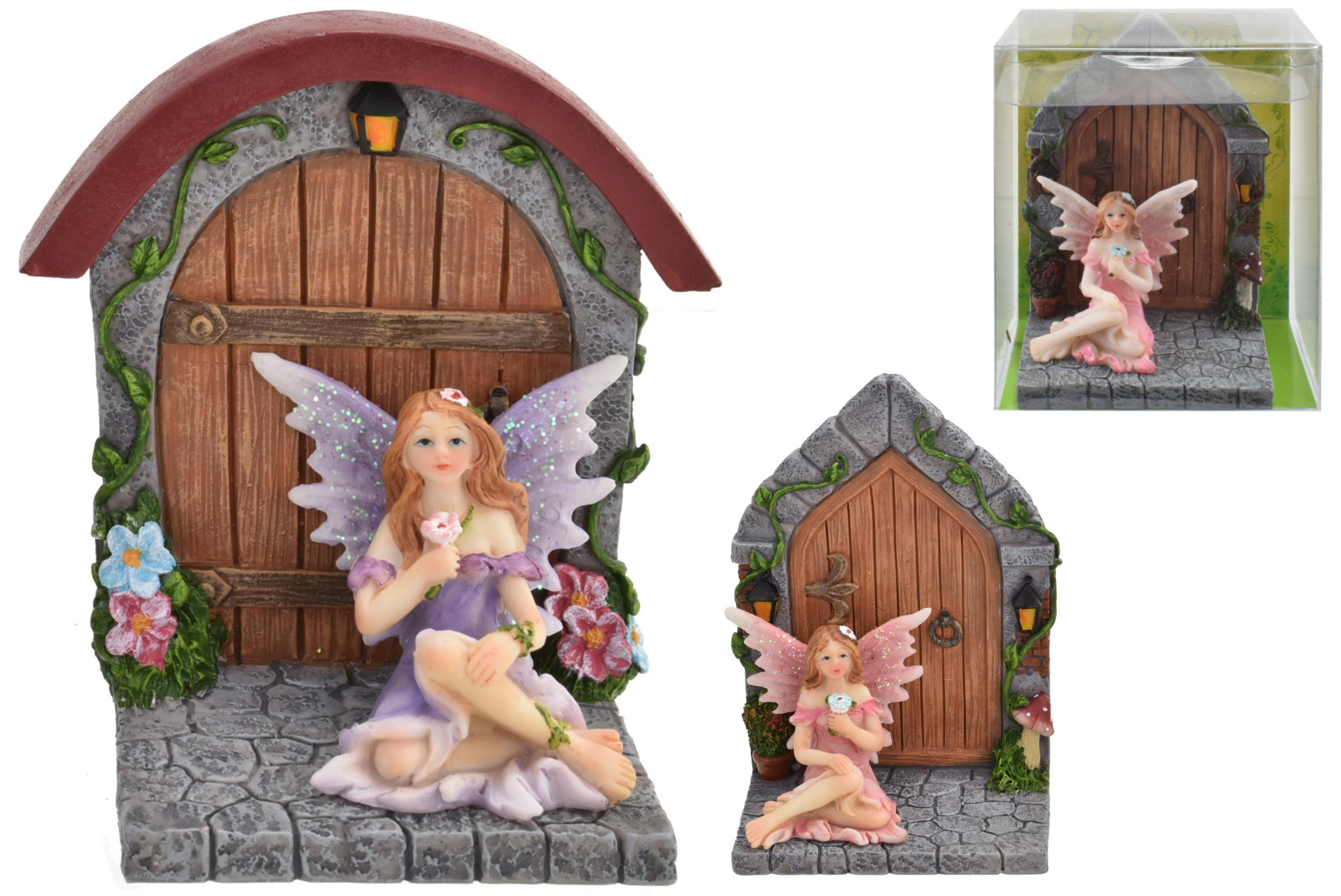 7.5cm Fairy & Door 2 Assorted Designs In Acetate Box