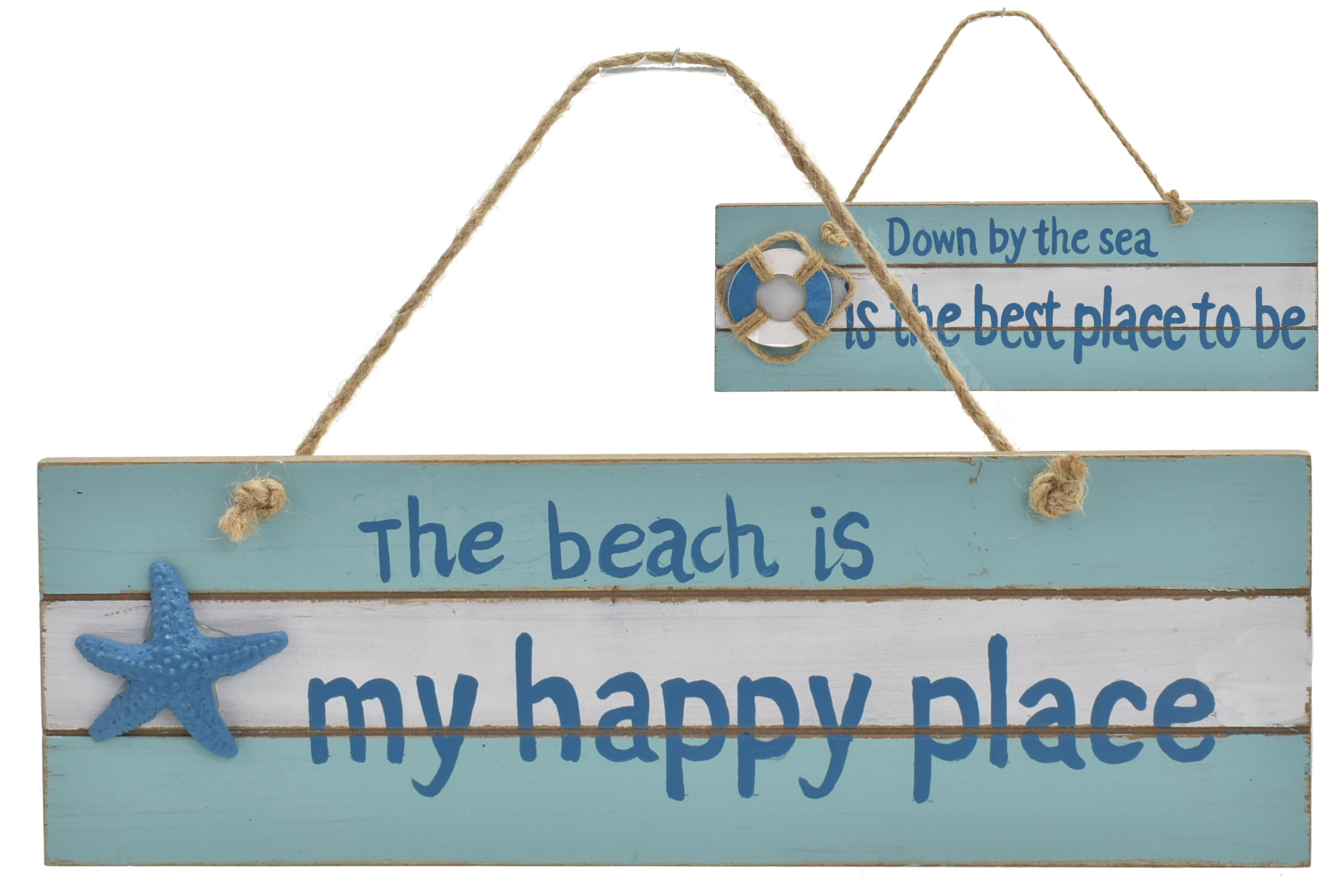 30x10cm Wooden Sign 2 Assorted