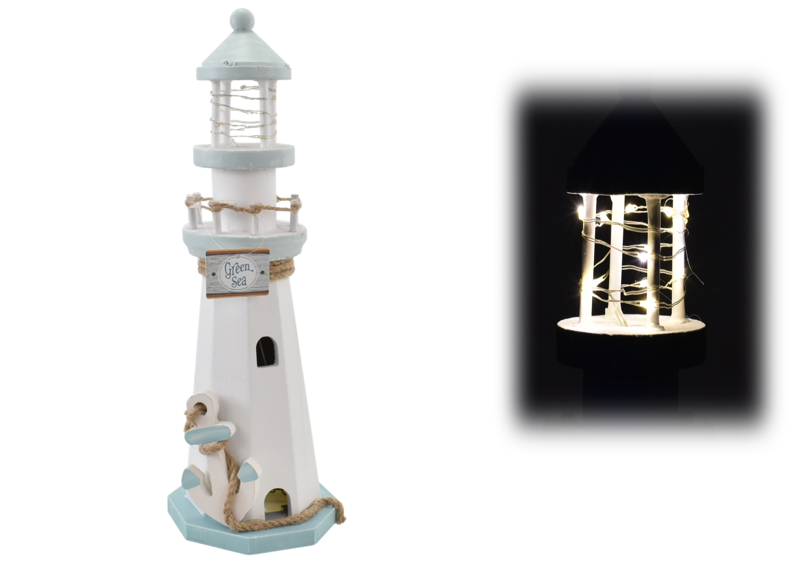 35cm Lighthouse With Led Lights