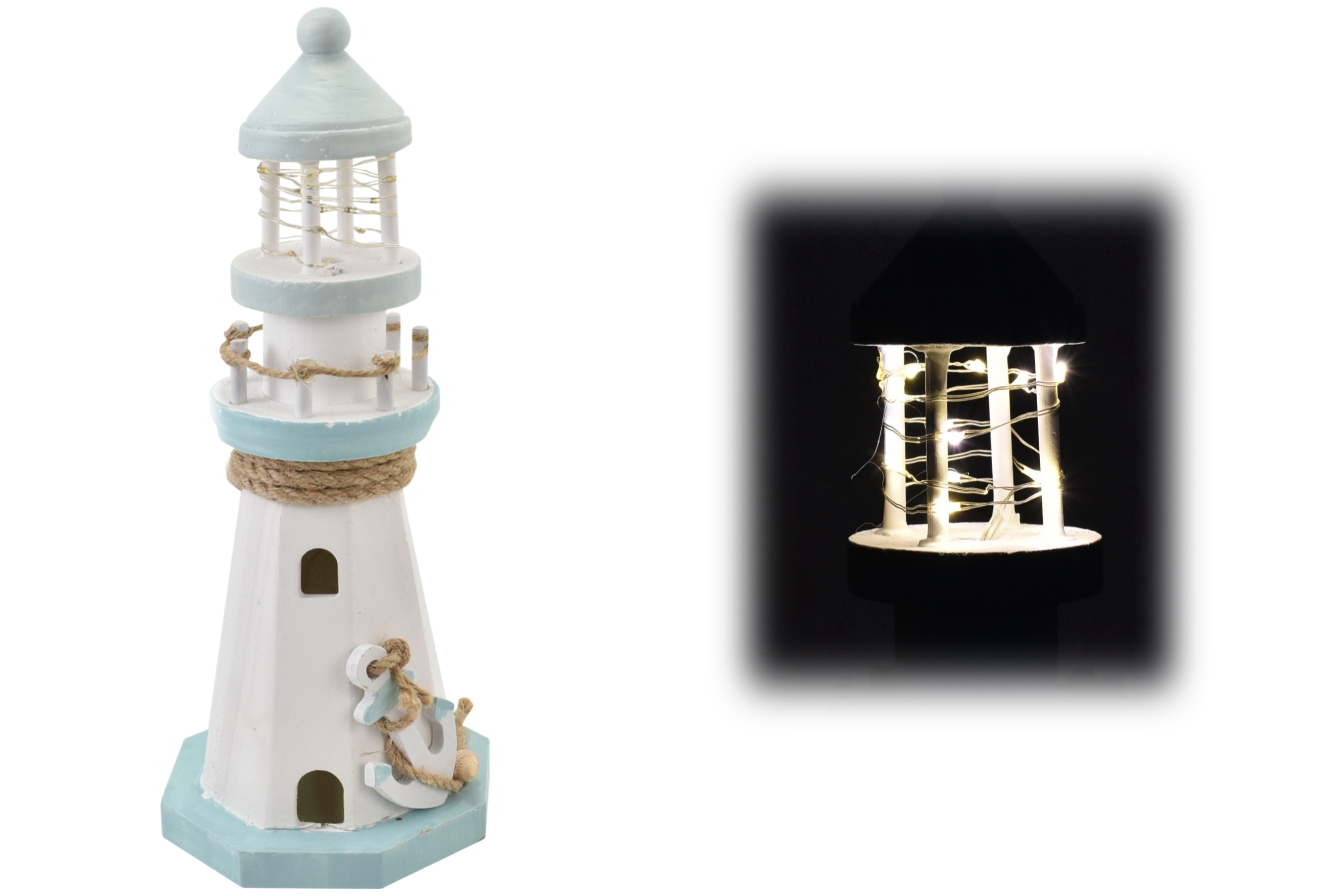 26cm Lighthouse With Led Lights