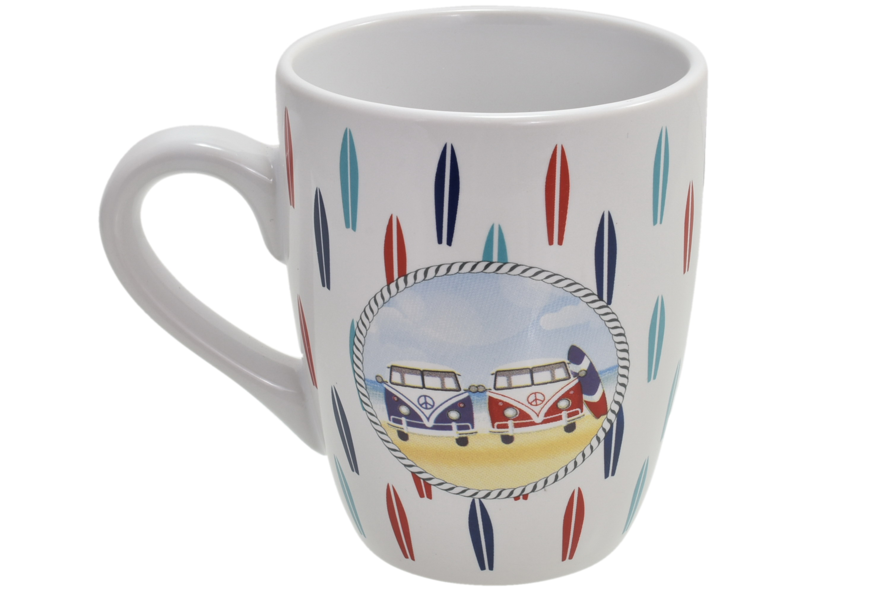 Ceramic Surf Bus Design Mug Surfboards Print