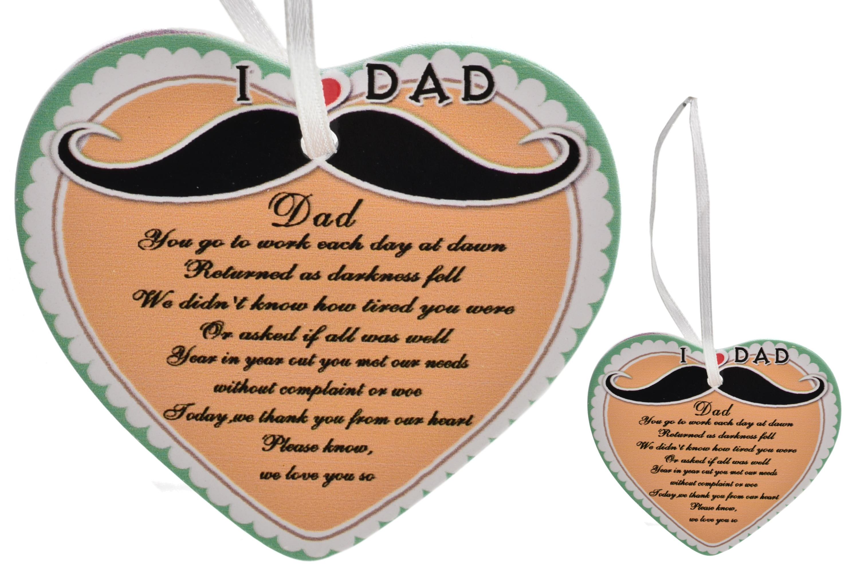 8cm Heart Hanger Sentiments - Dad