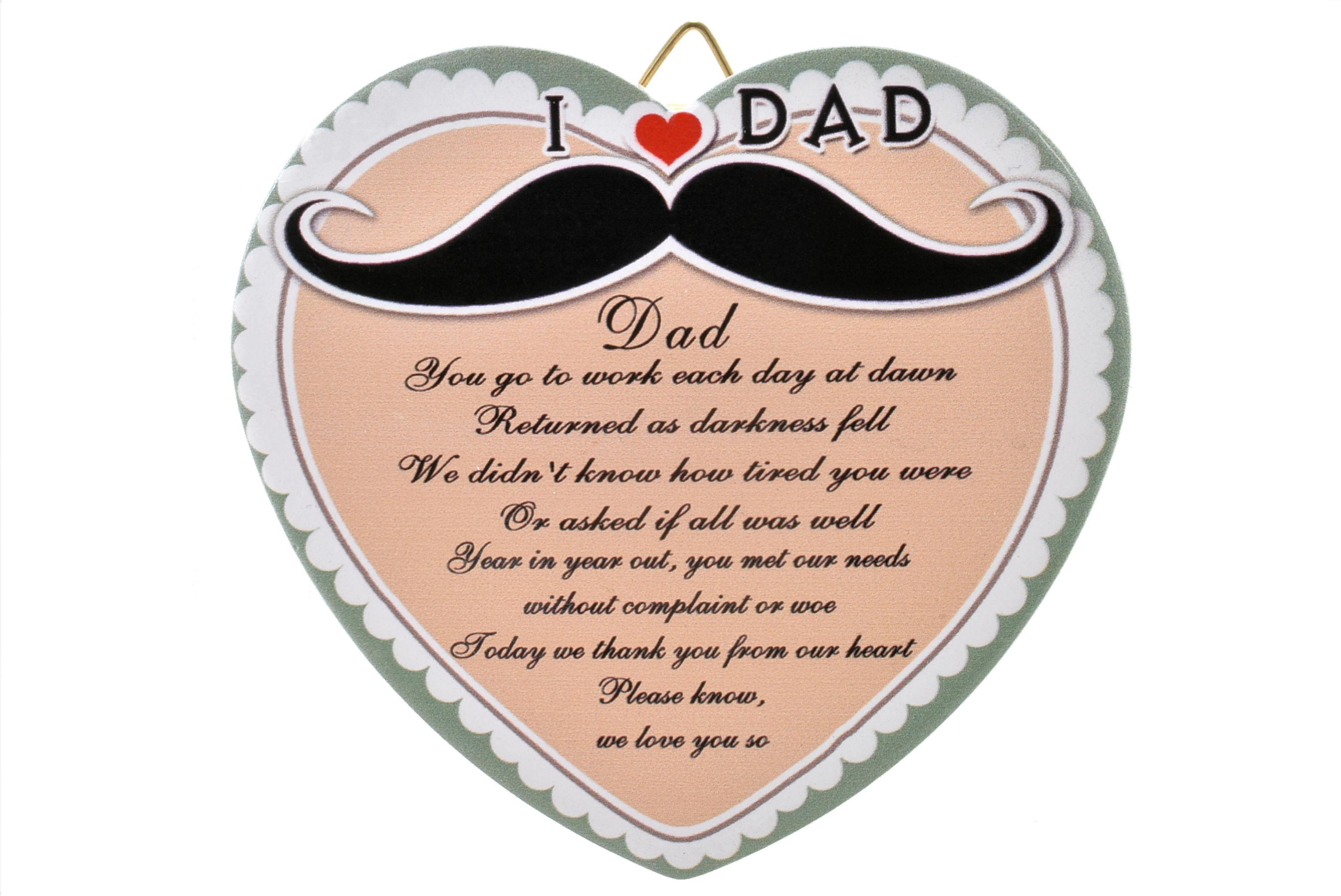 11cm Heart Hanger Sentiments - Dad