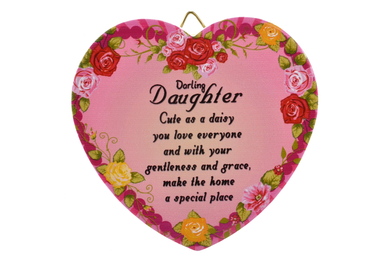 11cm Heart Hanger Sentiments - Daughter