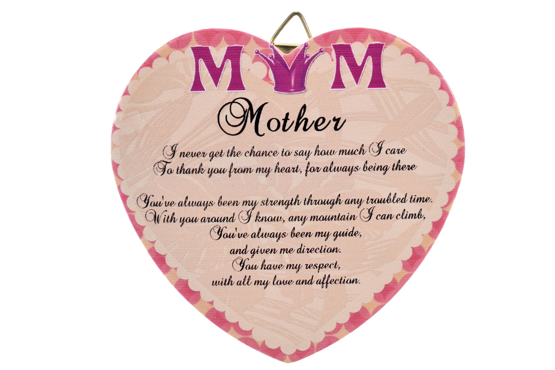 11cm Heart Hanger Sentiments - Mum
