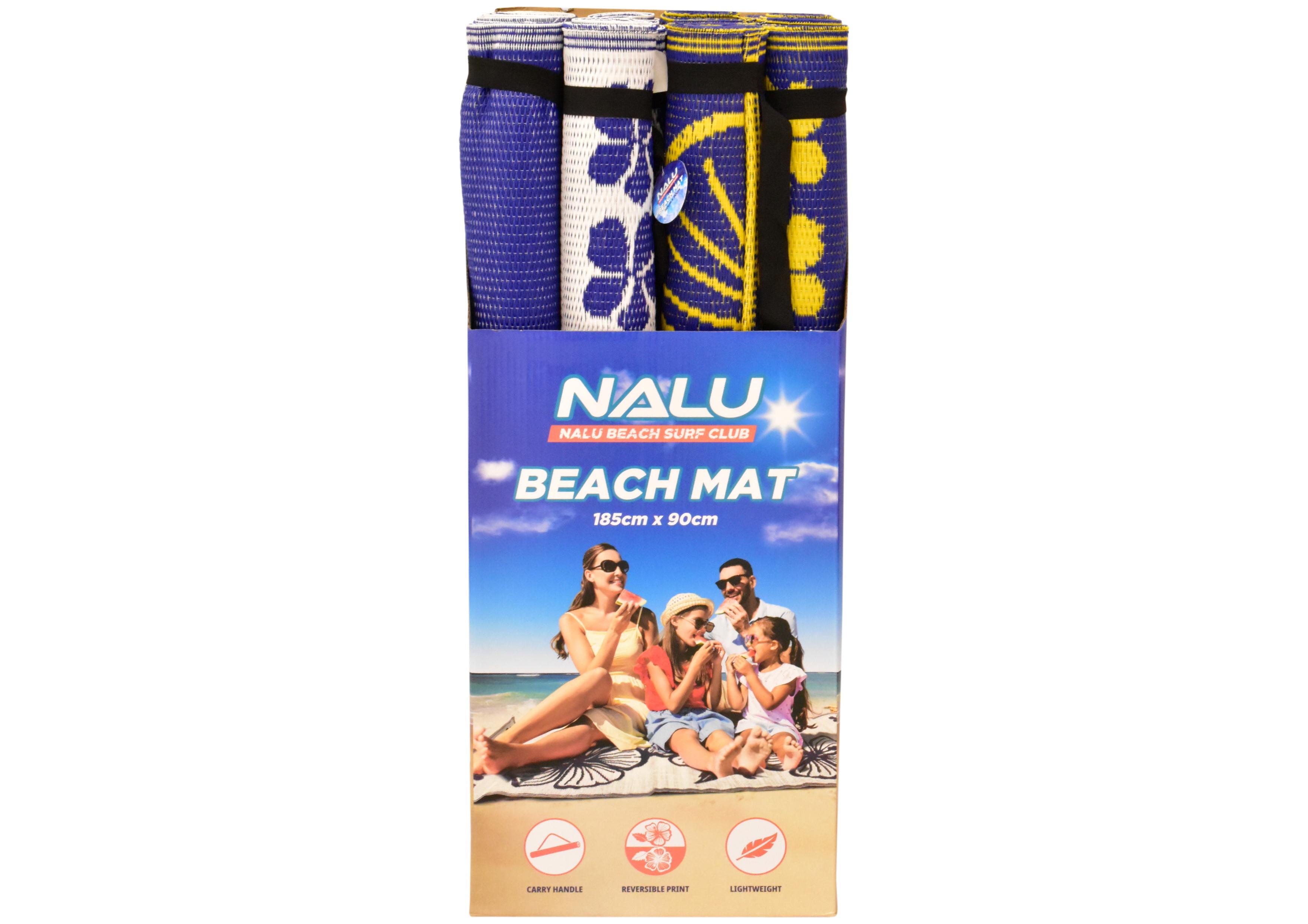 90cm x 185cm Rolled Pvc Beach Mat In Display Box