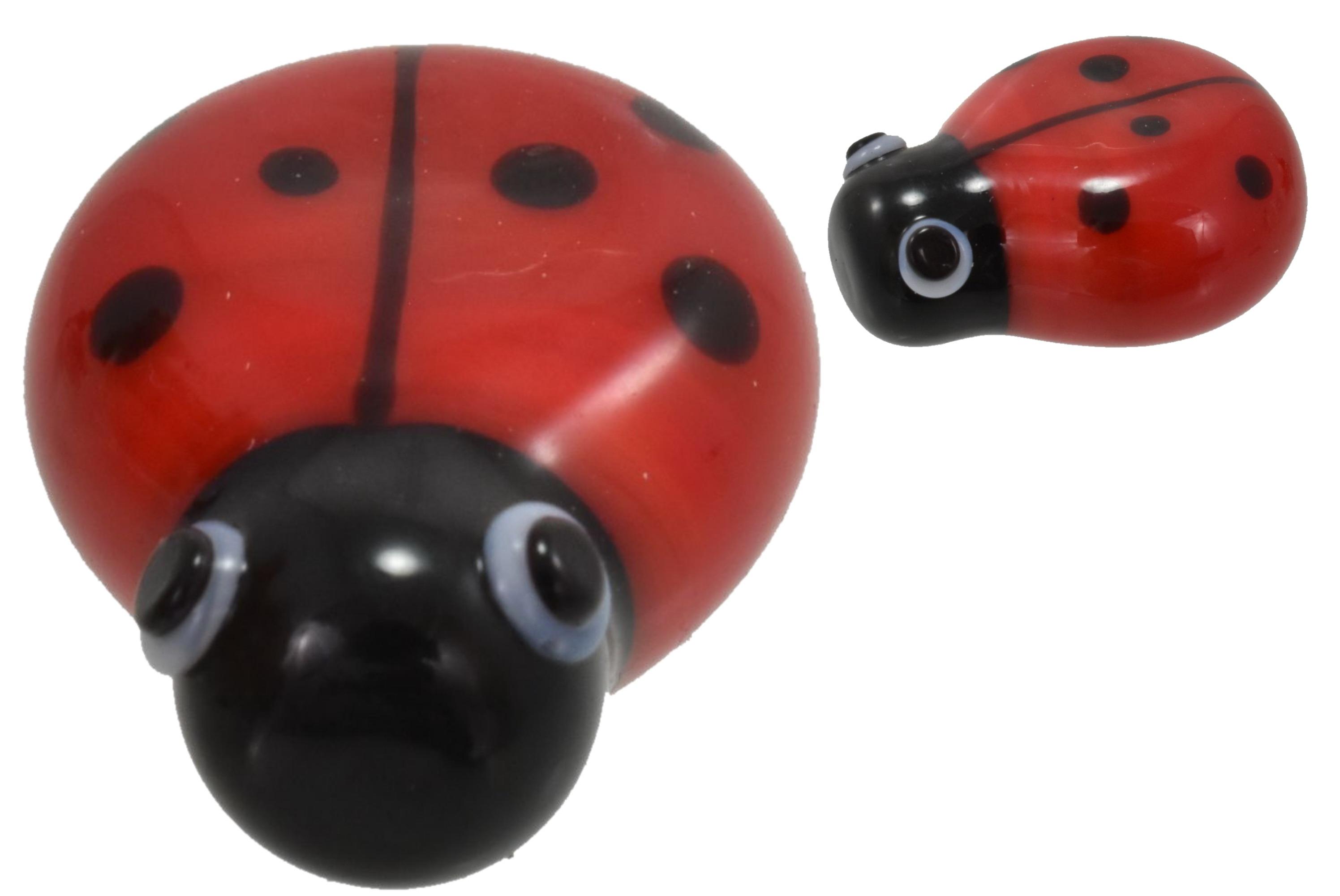 2cm Glass Ladybird Ornament
