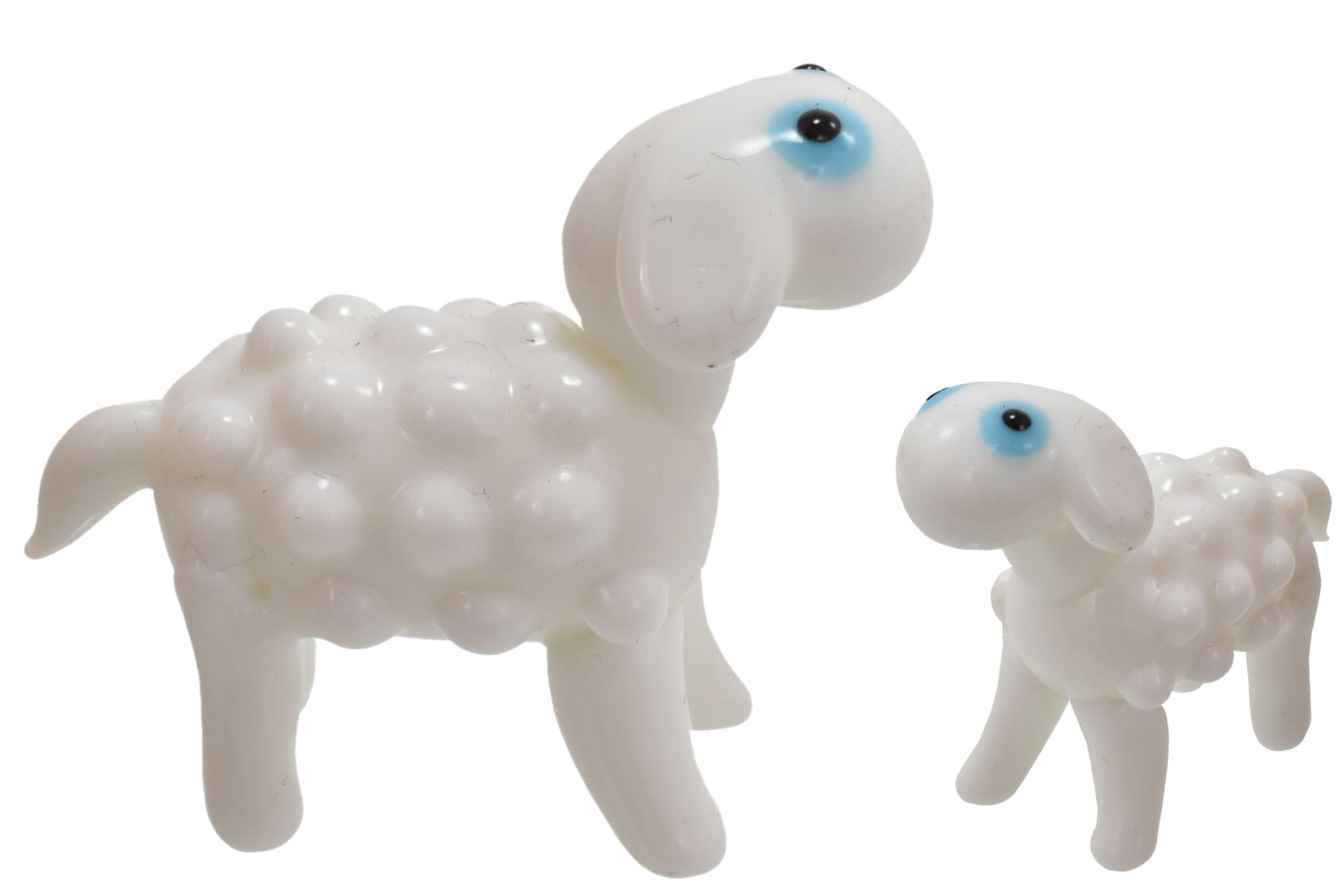 4.5cm Glass Sheep Ornament