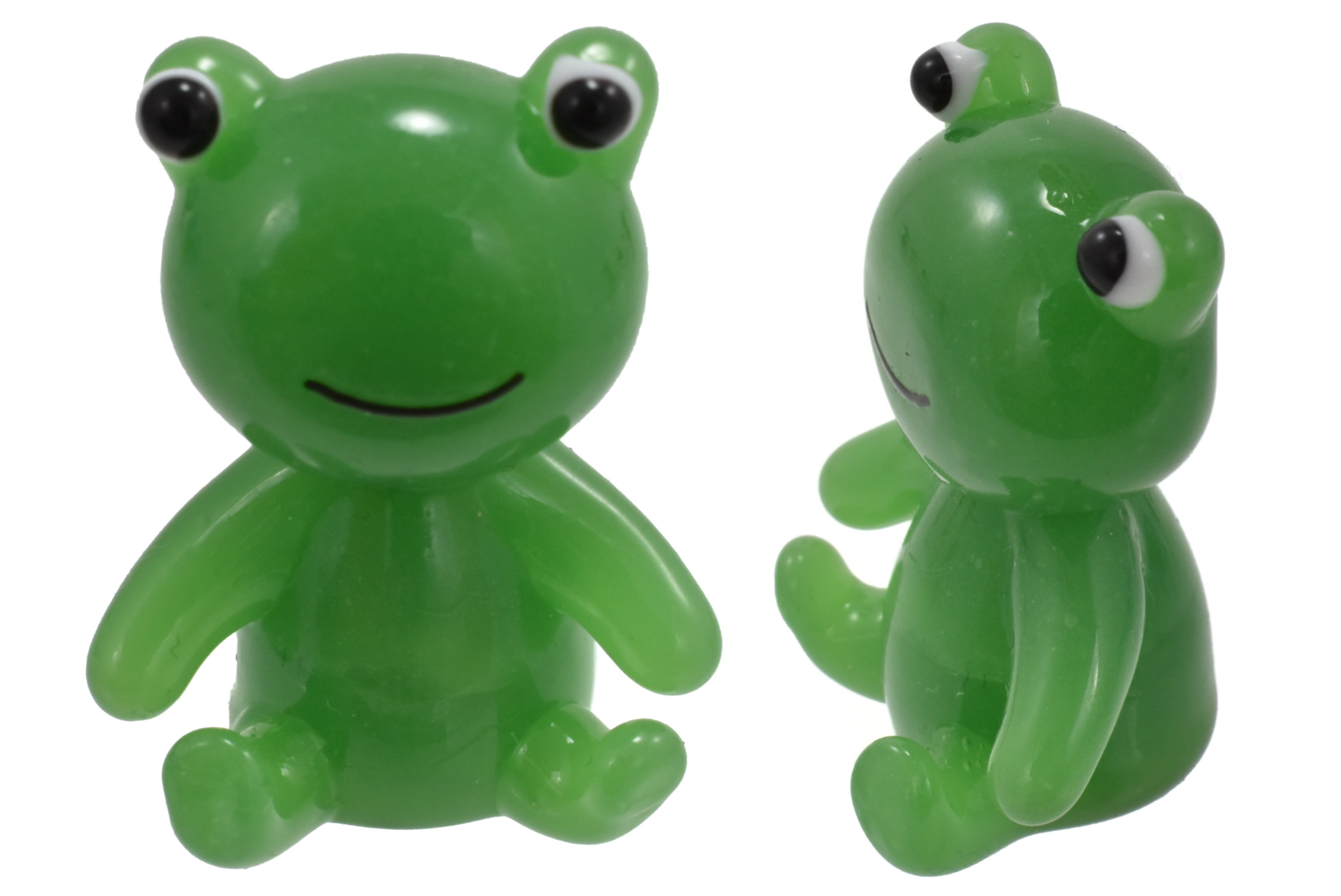 4.5cm Glass Frog Ornament