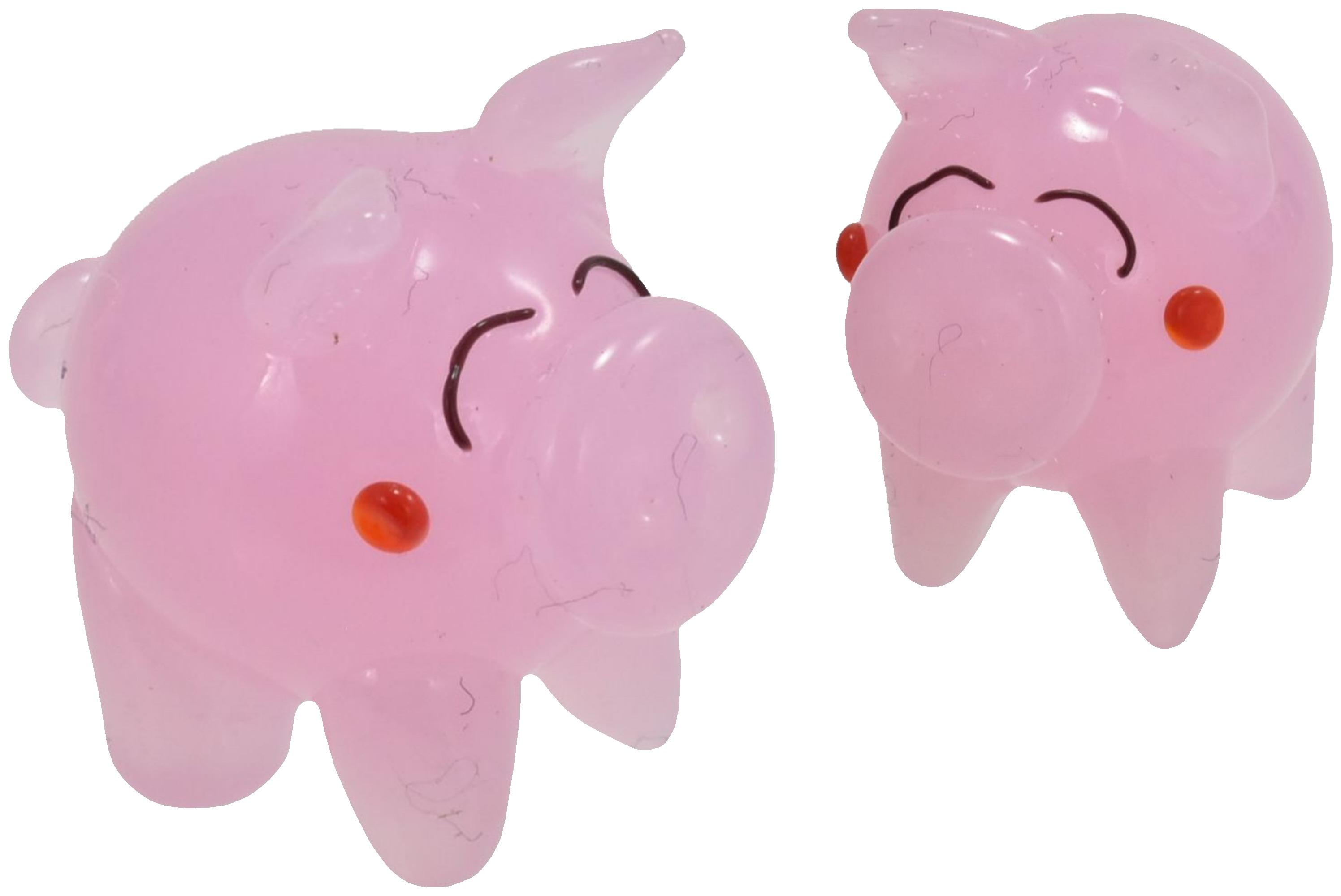 2cm Glass Pig Ornament