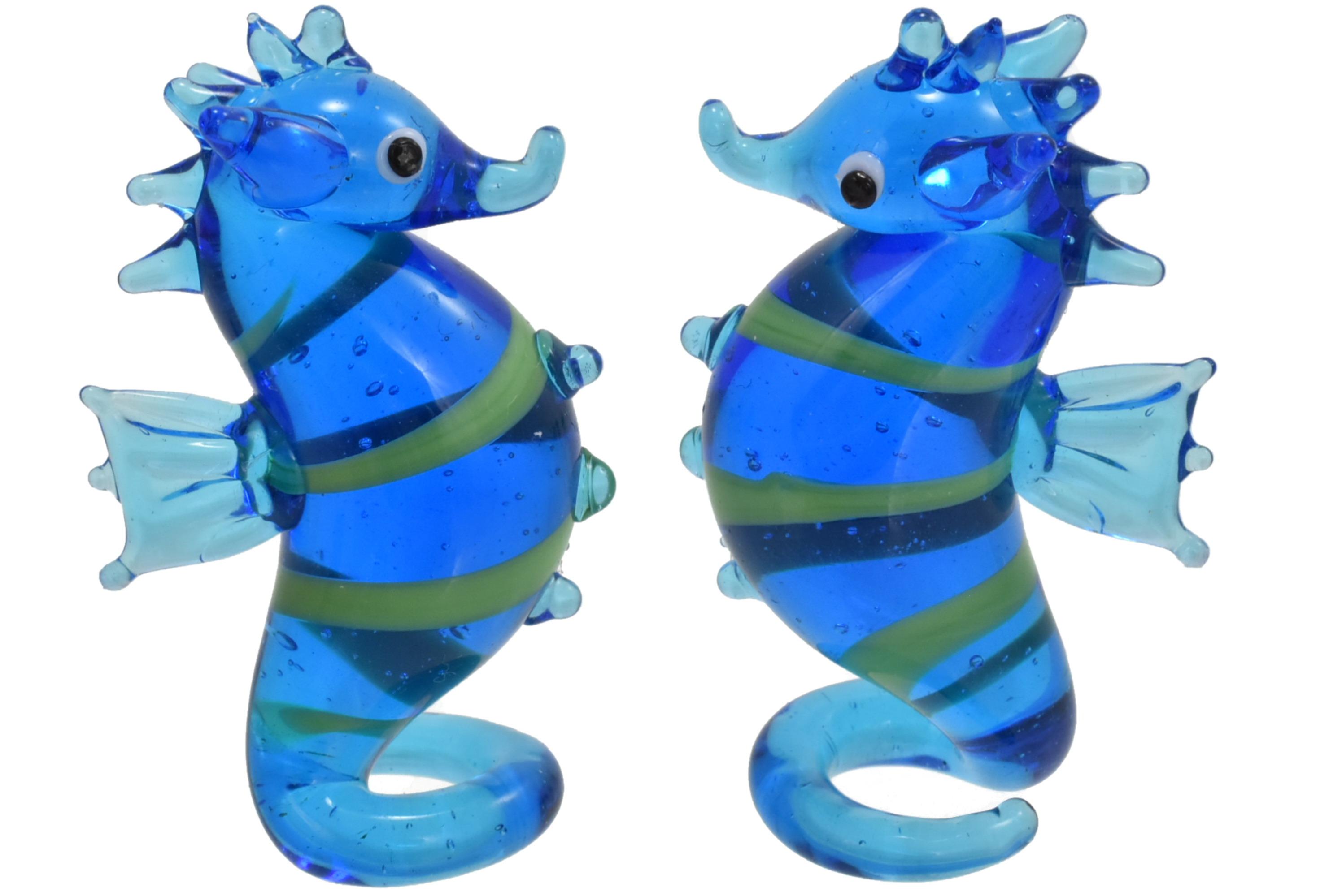 5cm Glass Seahorse Ornament