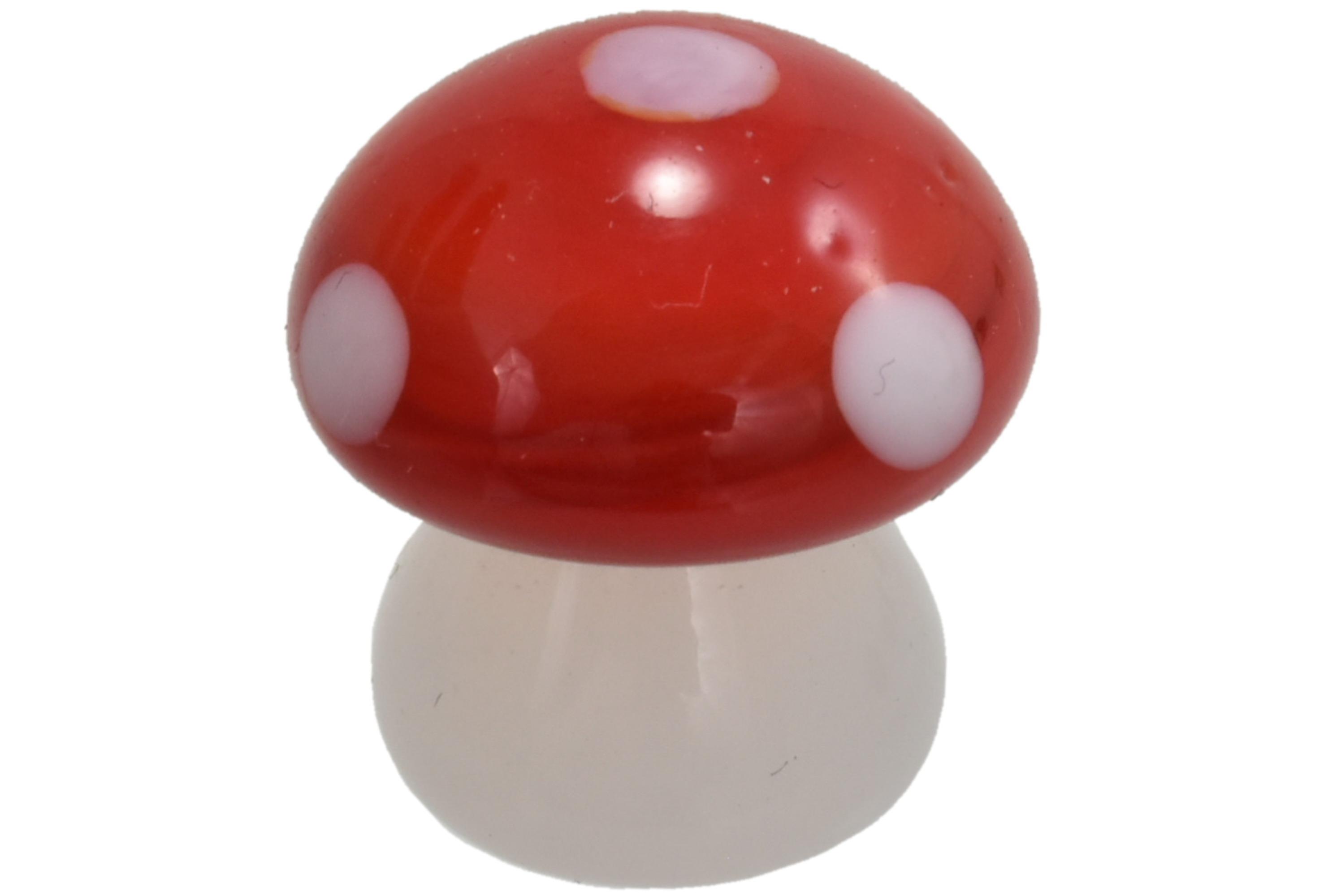 2cm Glass Mushroom Ornament