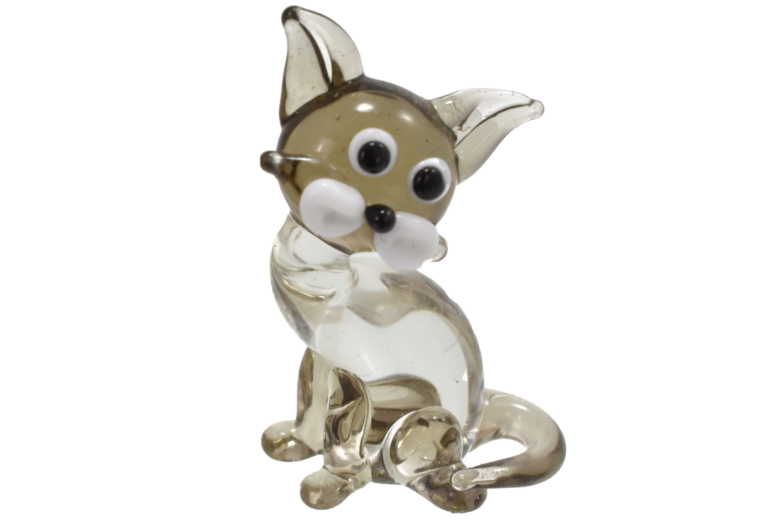 2cm Glass Cat Ornament