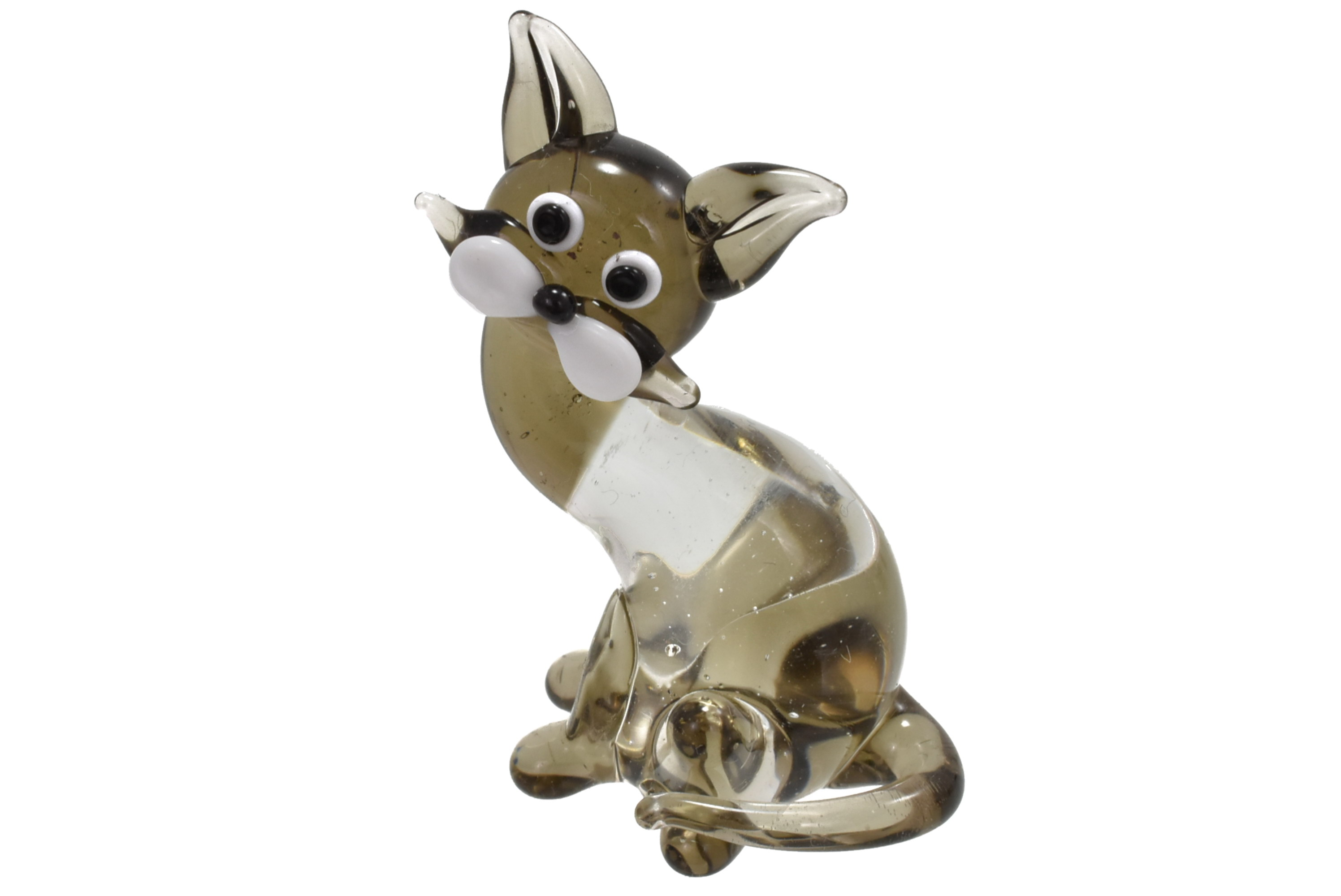4cm Glass Cat Ornament