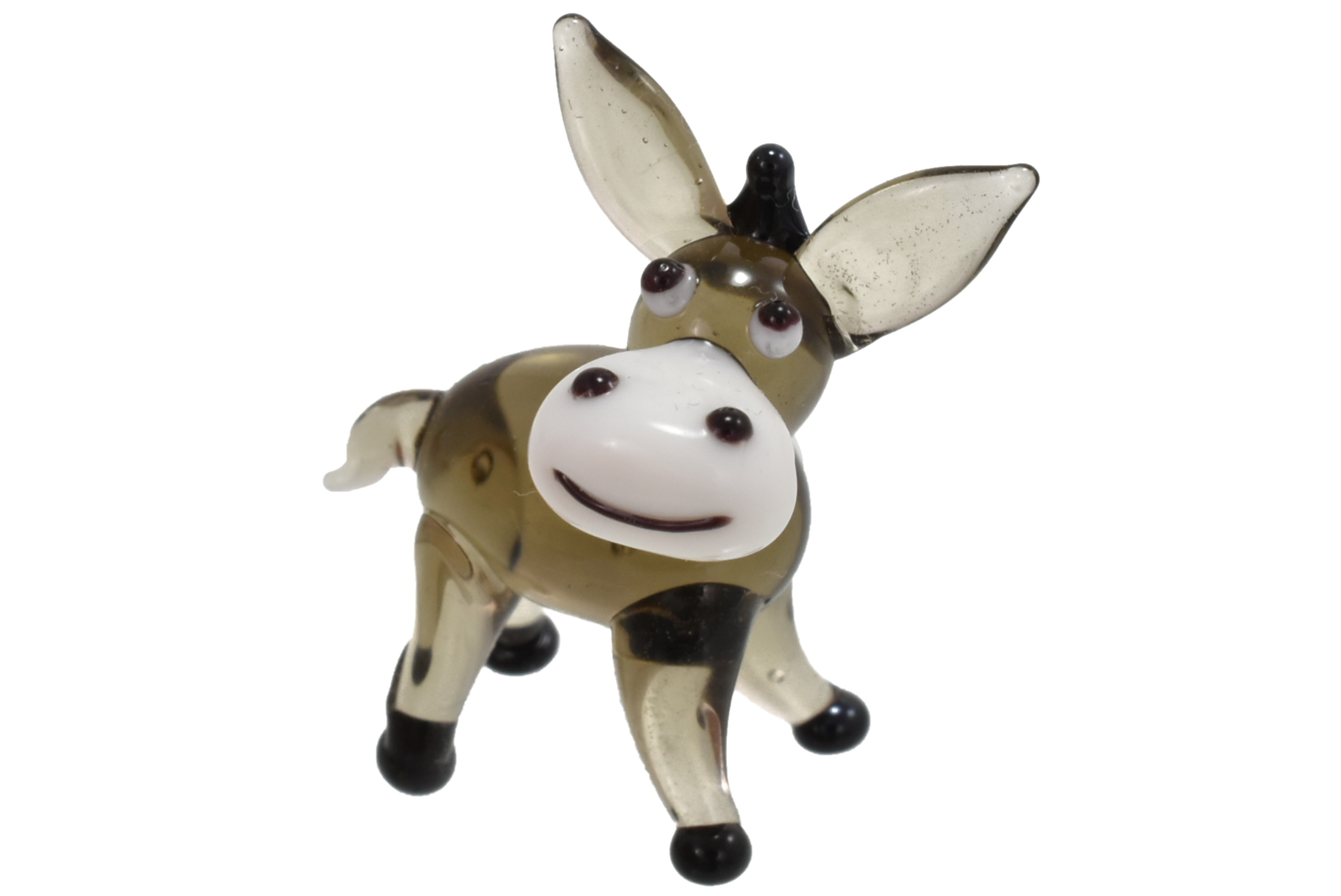 2cm Glass Donkey Ornament