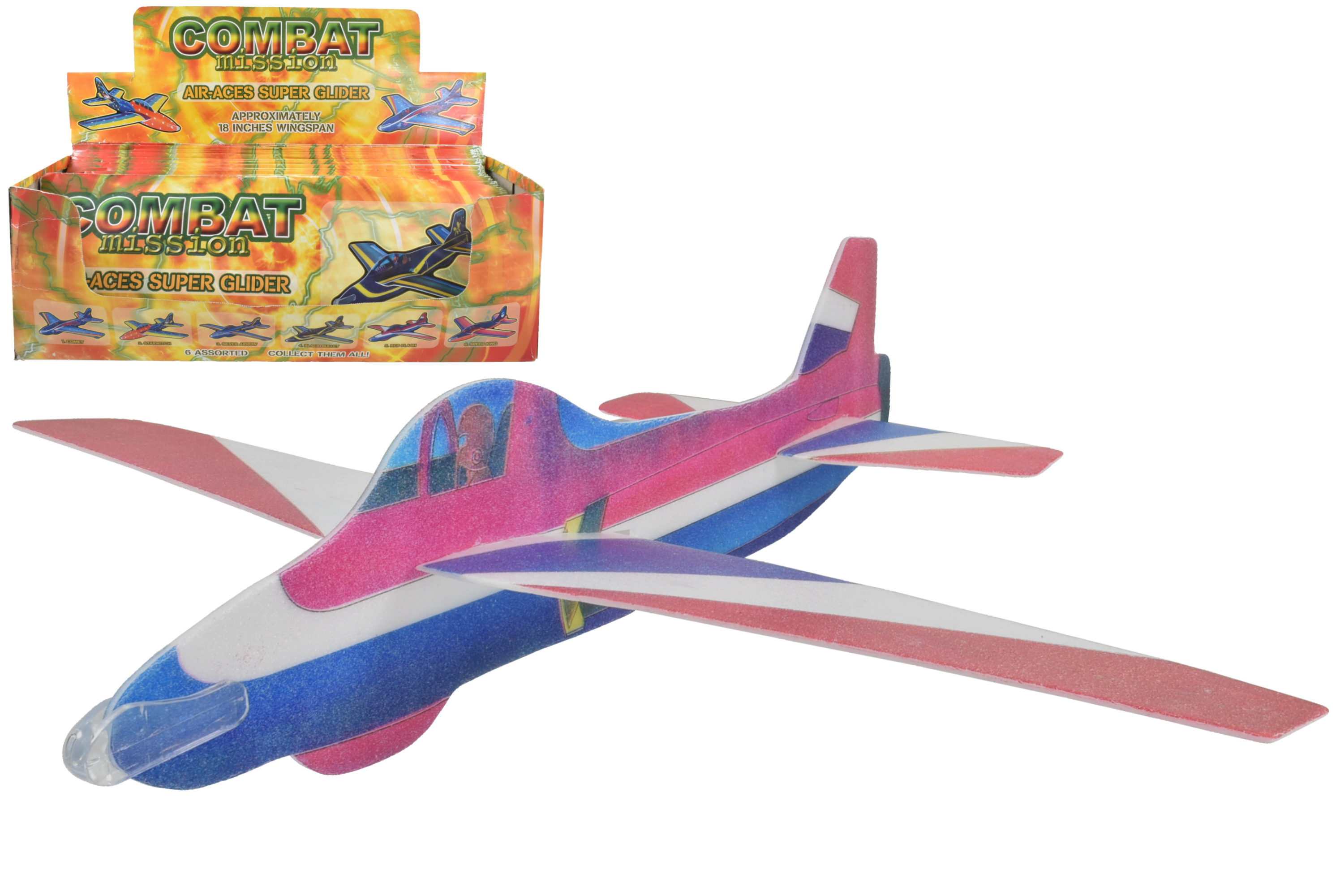 "18"" Air Aces Super Glider In D/Box ""Combat Mission"""