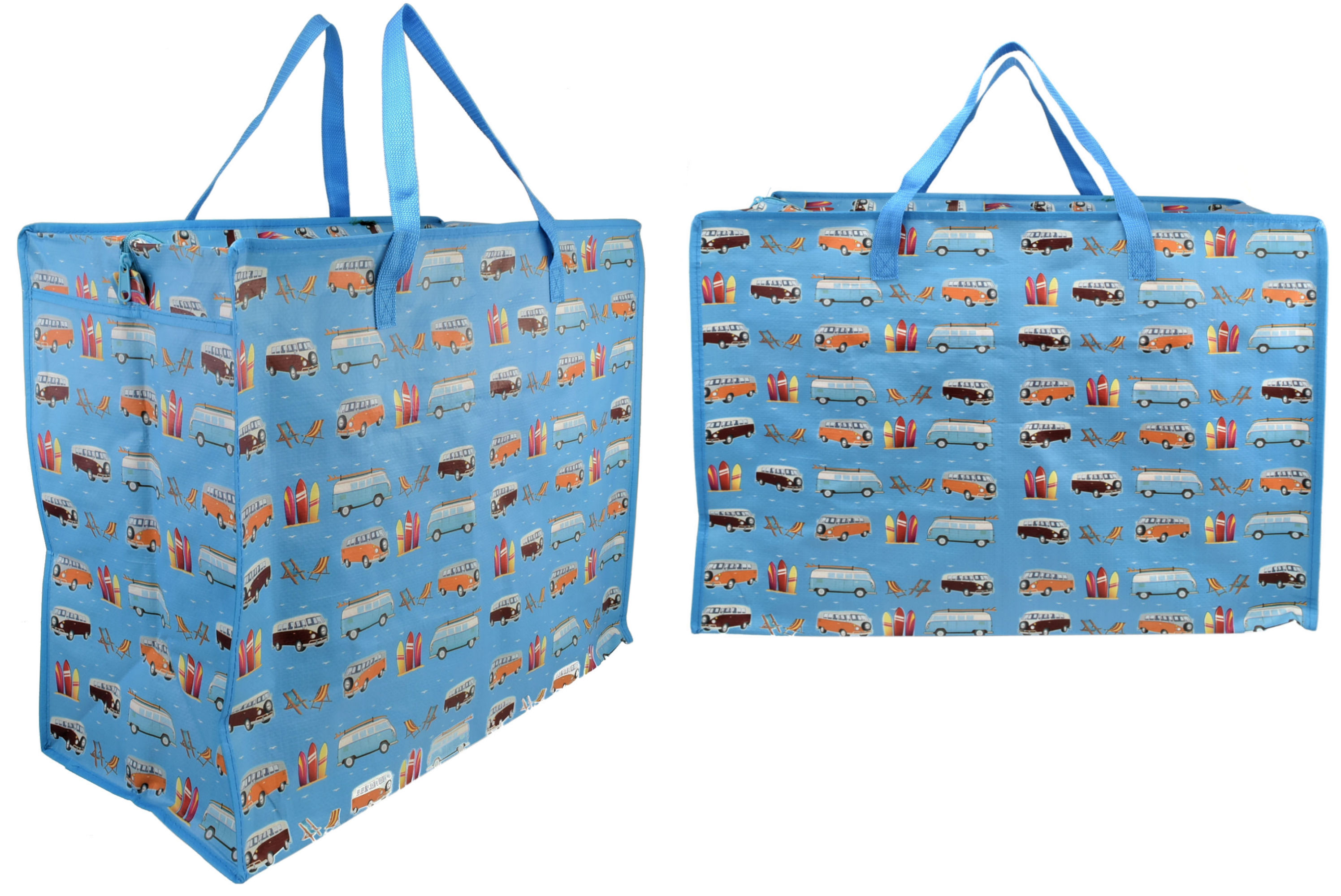 Surf Bus Print Shopping Bag 58x48x30cm