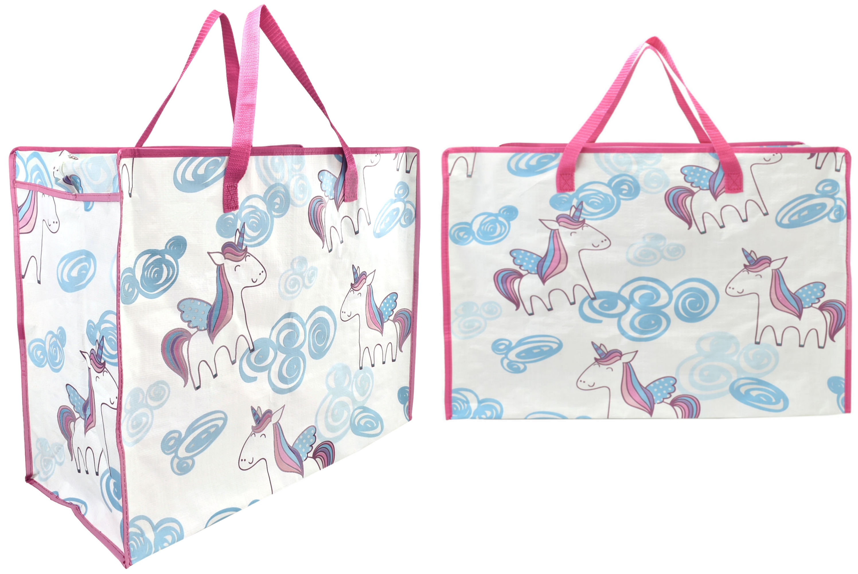 Unicorn Print Shopping Bag 58x48x30cm