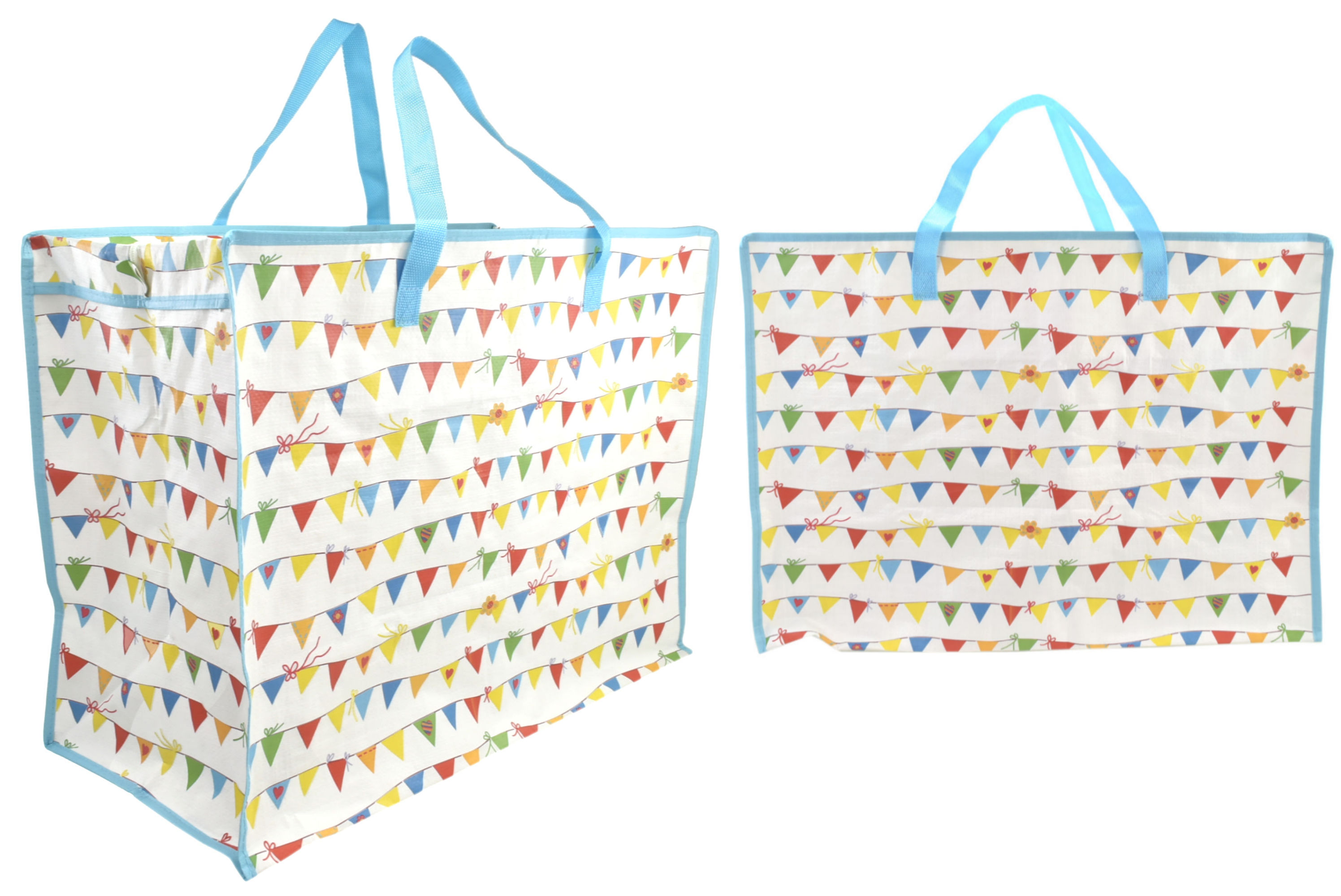 Bunting Print Shopping Bag 58x48x30cm