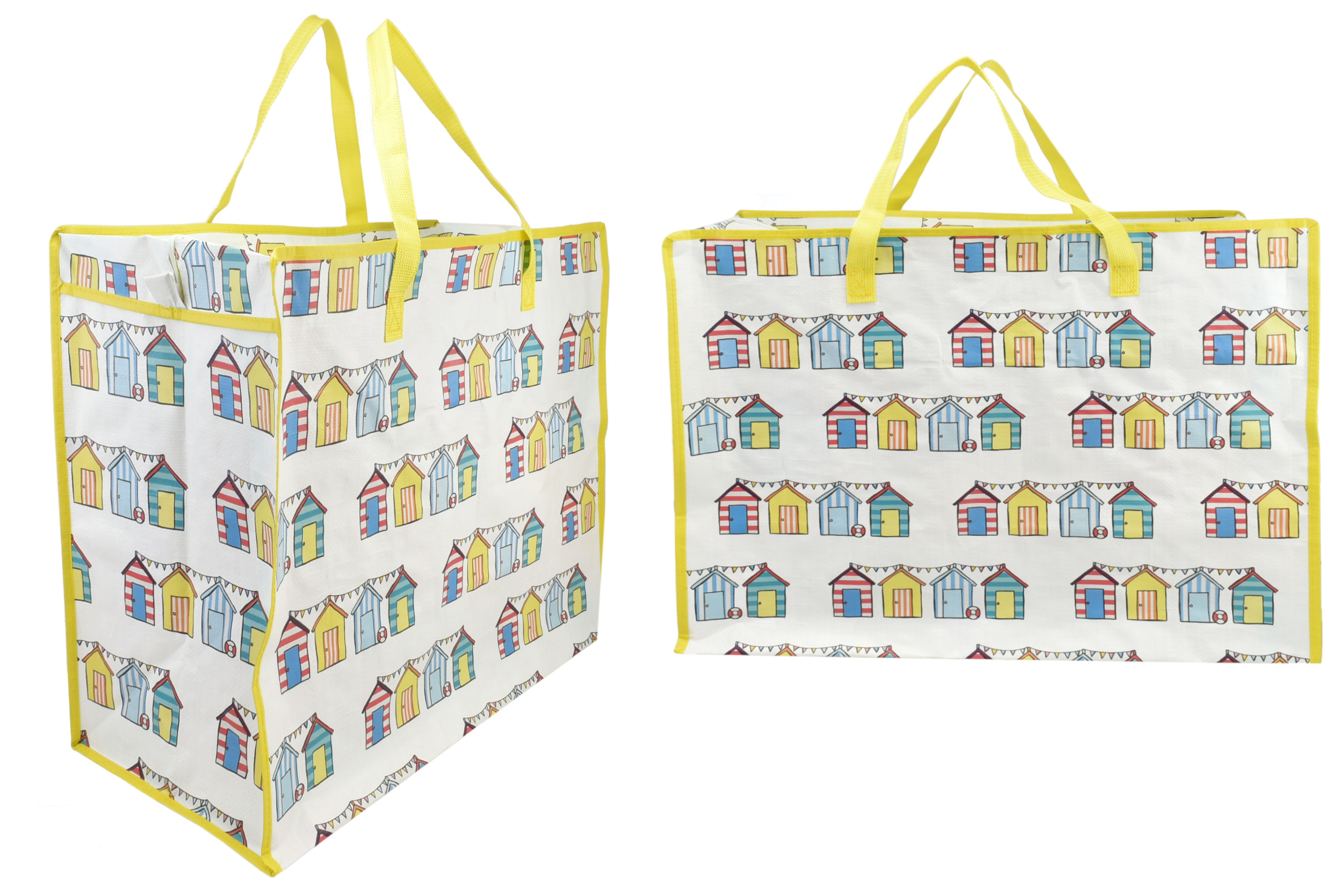 Beach Hut Print Shopping Bag 58x48x30cm