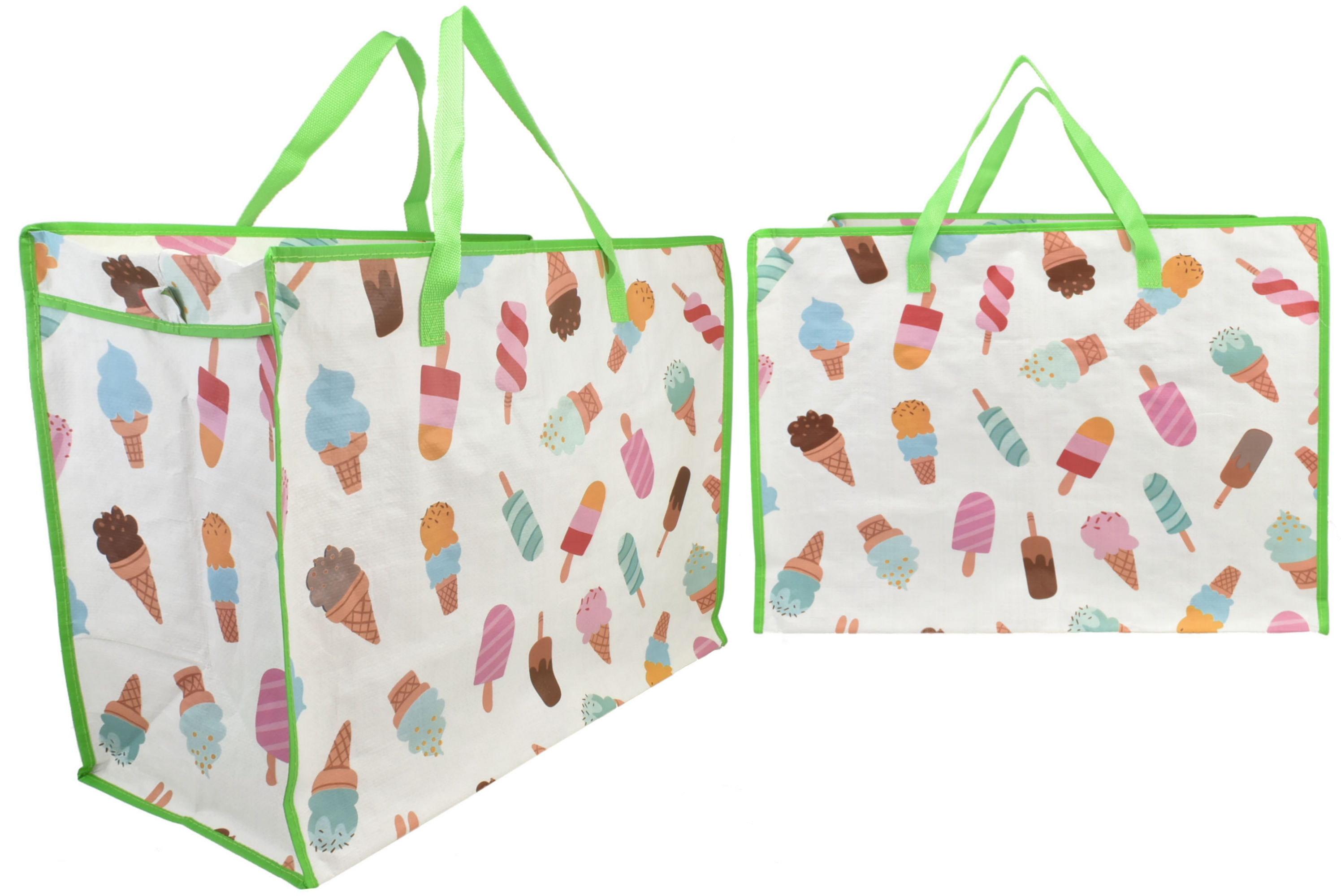 Ice Cream Print Shopping Bag 58x48x30cm