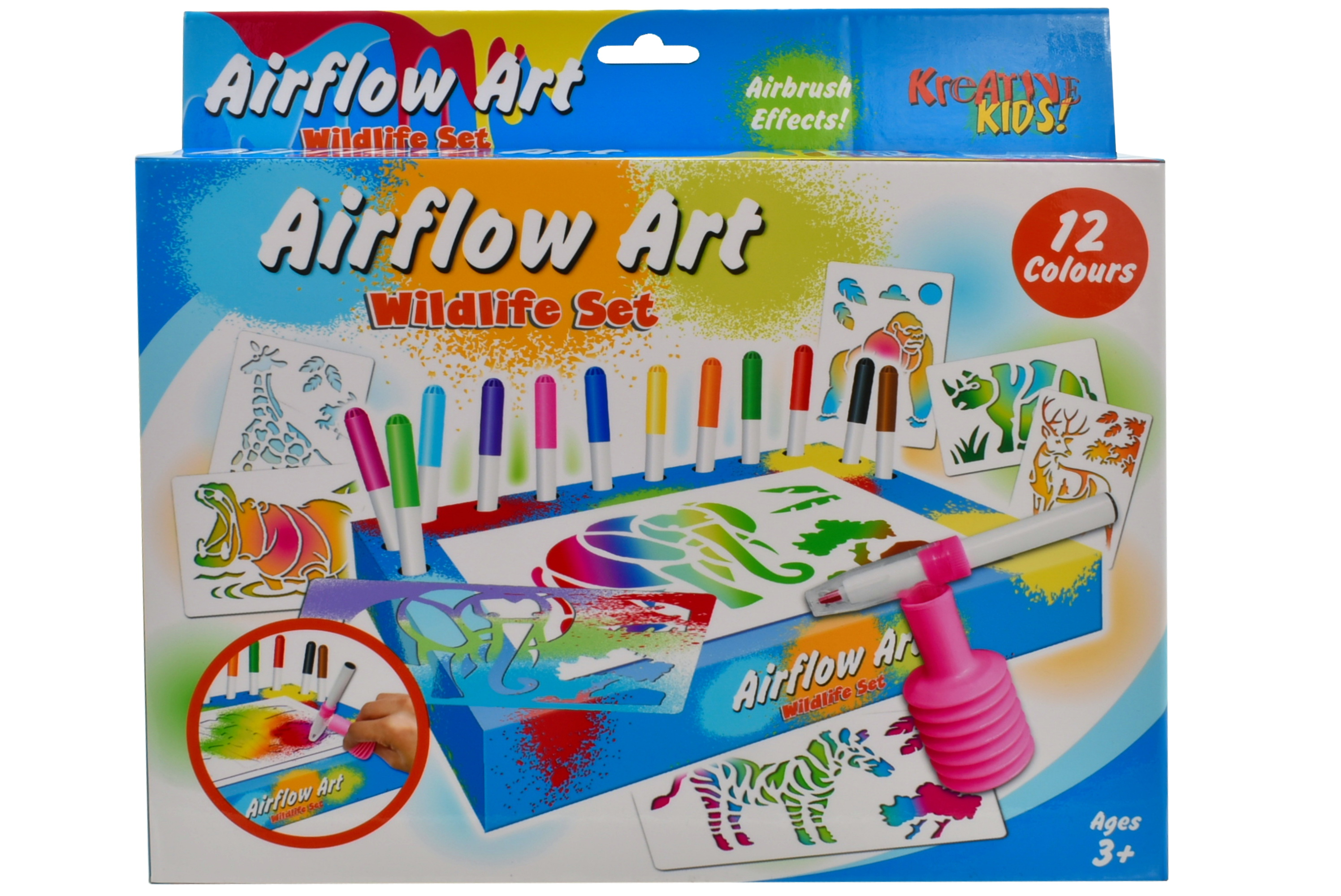Wildlife Air Flow Pens Playset In Hanging Box