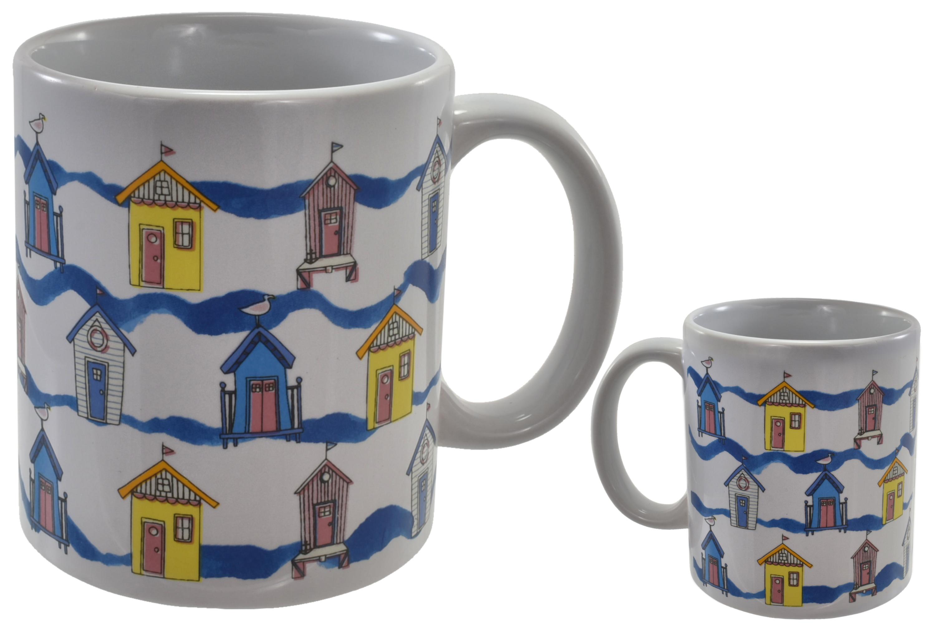 Beach Hut Mug Stoneware 10oz