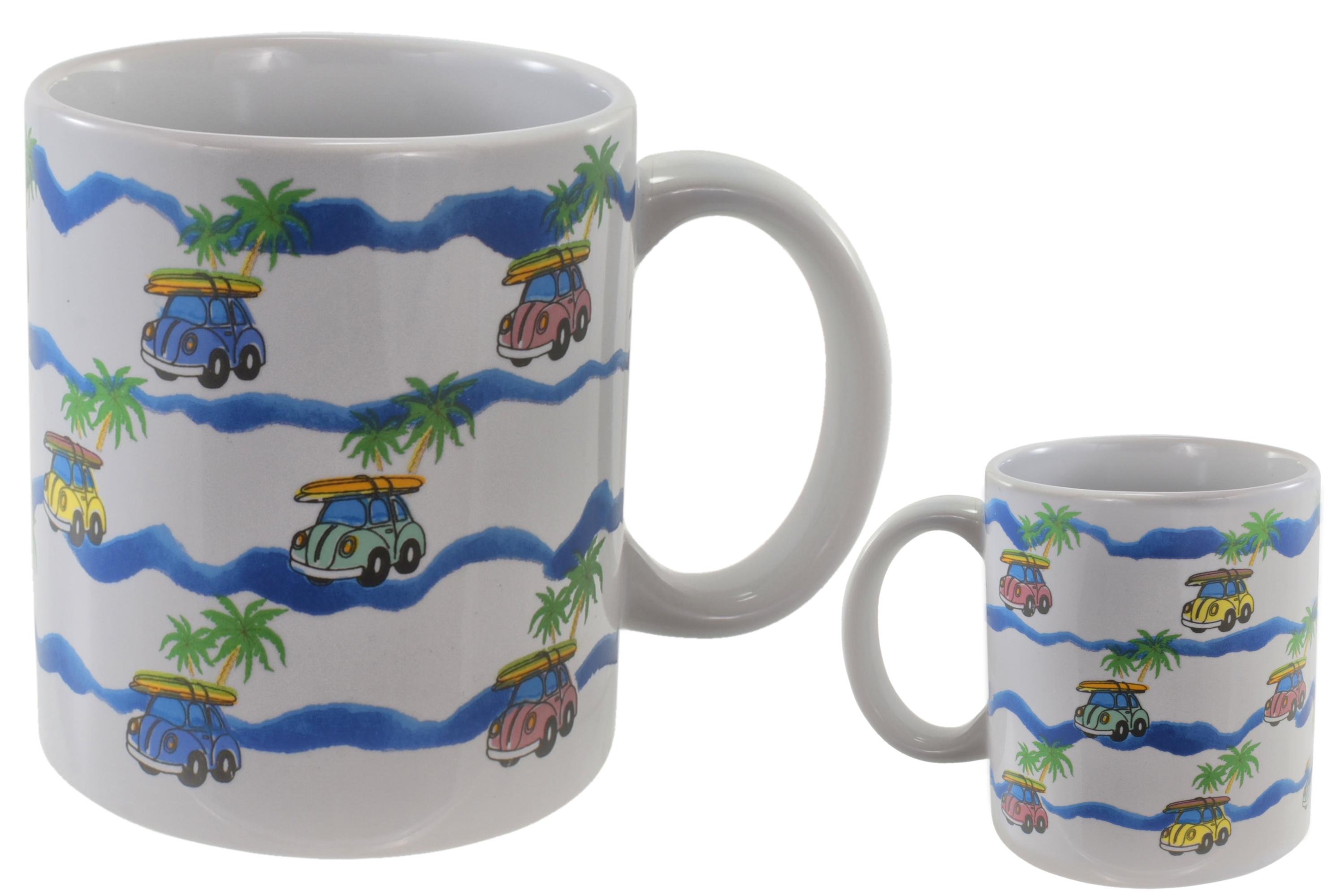 Surf Car Mug Stoneware 10oz