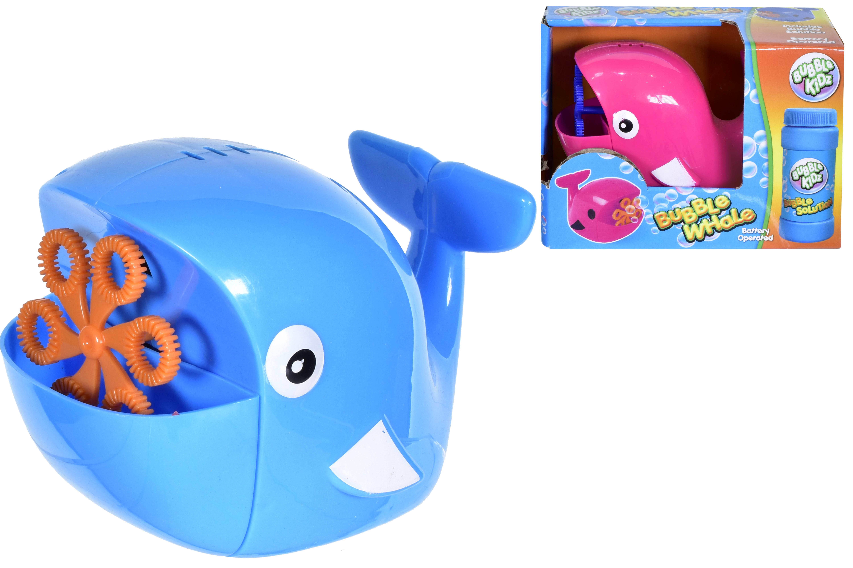 B/O Whale Bubble Machine (2 Asst Colours) With Bubbles