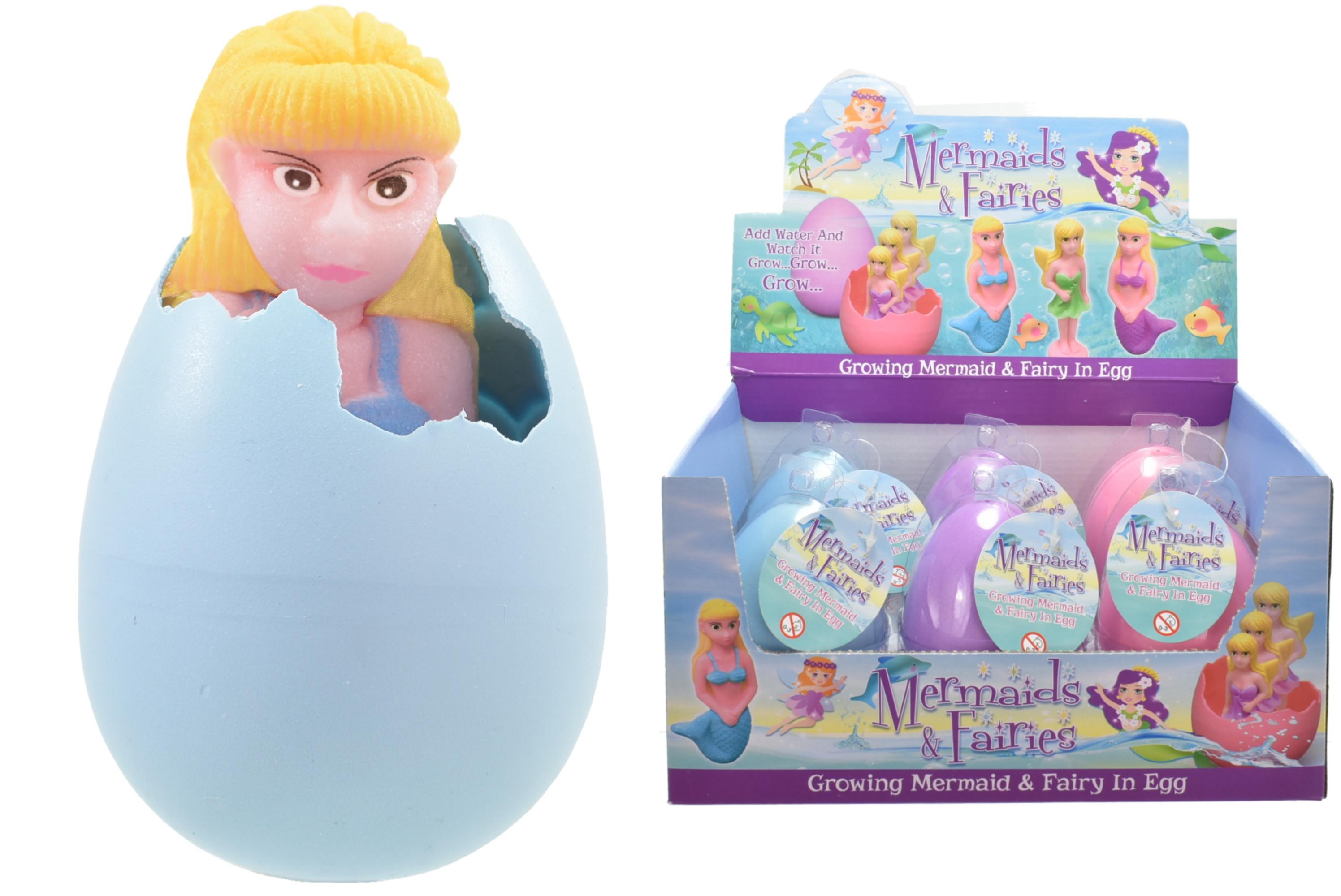 Large Growing Fairies & Mermaids In Egg (4 Assorted)
