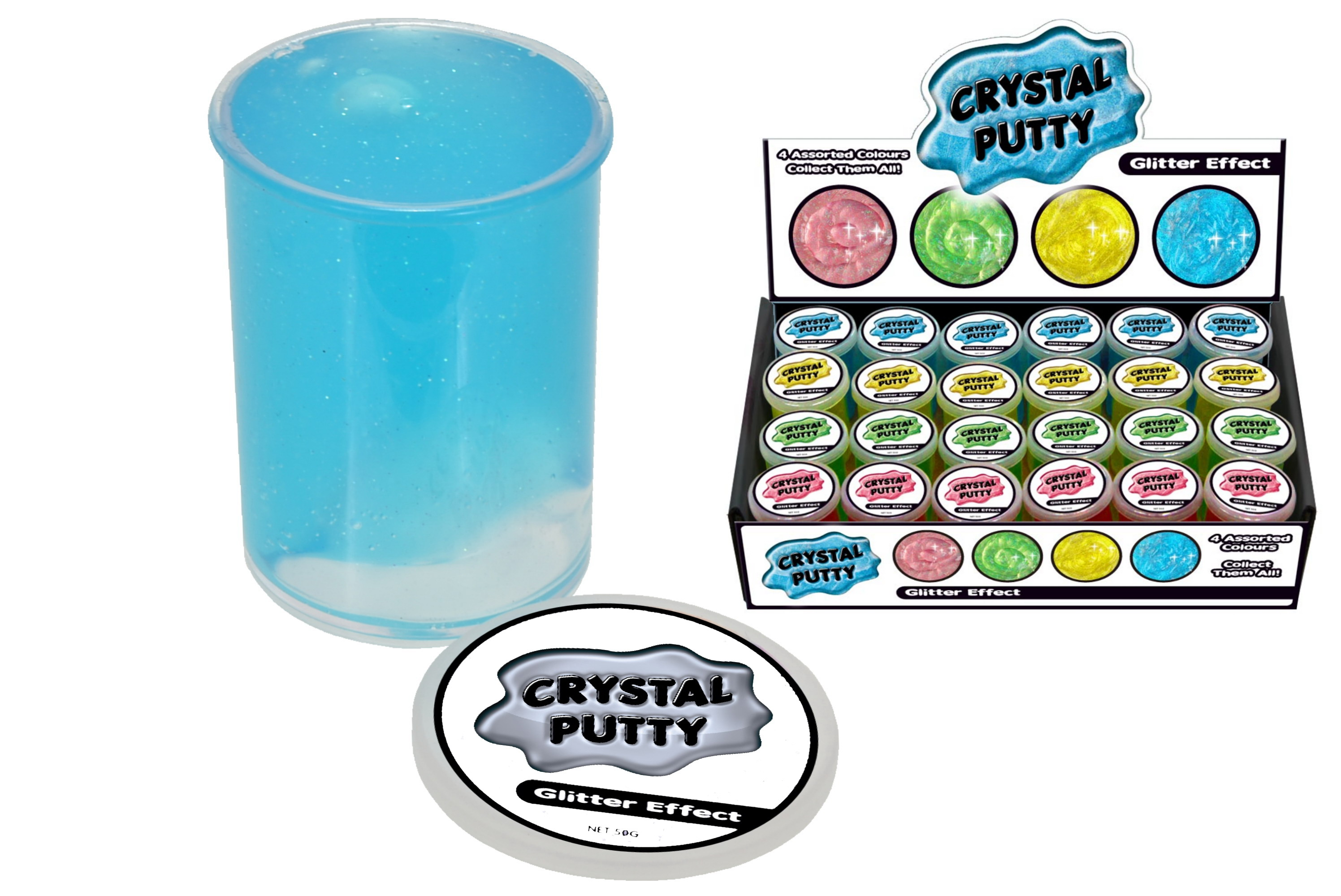 Glitter Crystal Putty (50g) In Display Box