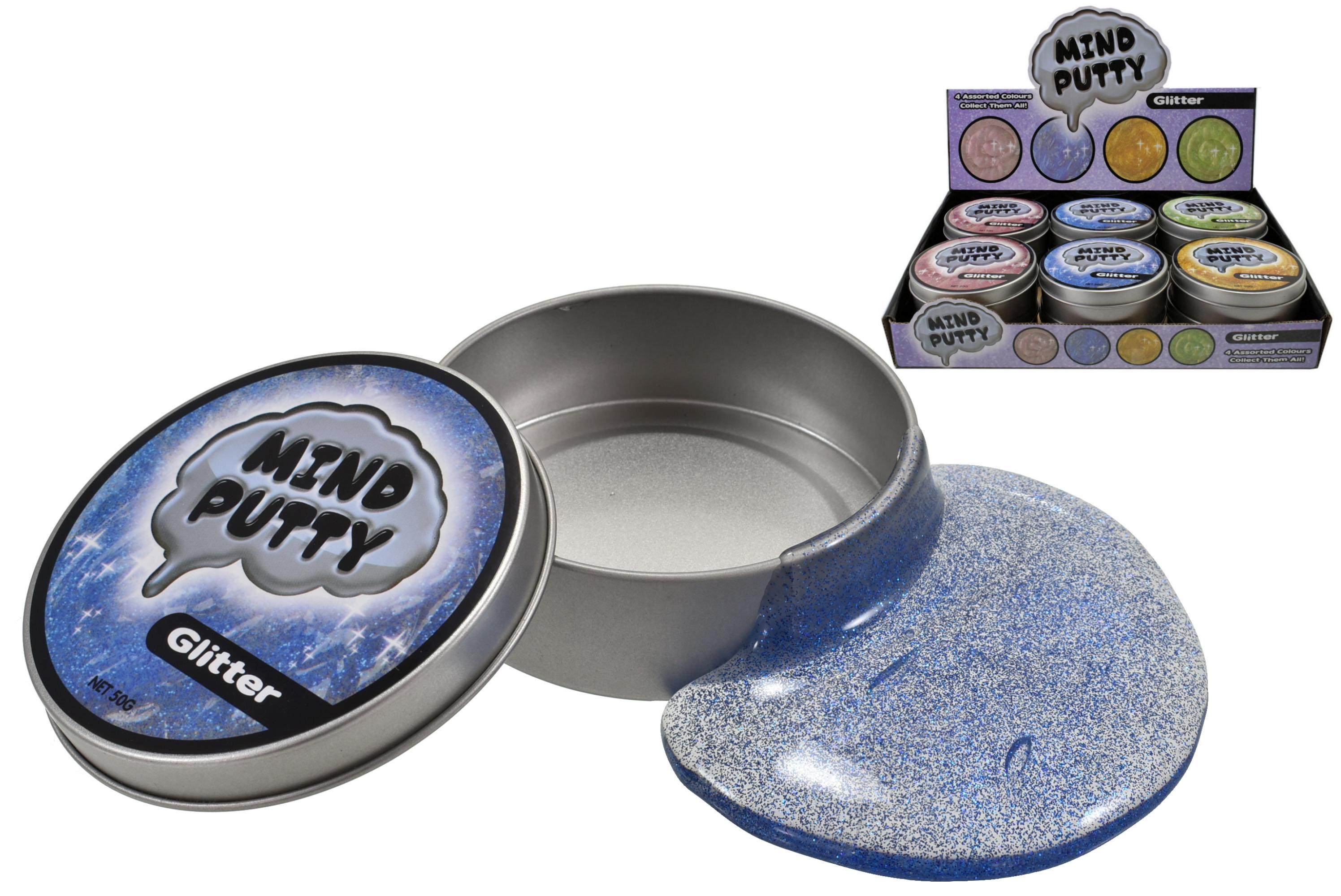 Glitter Mind Putty (50g) In Tin & Display Box
