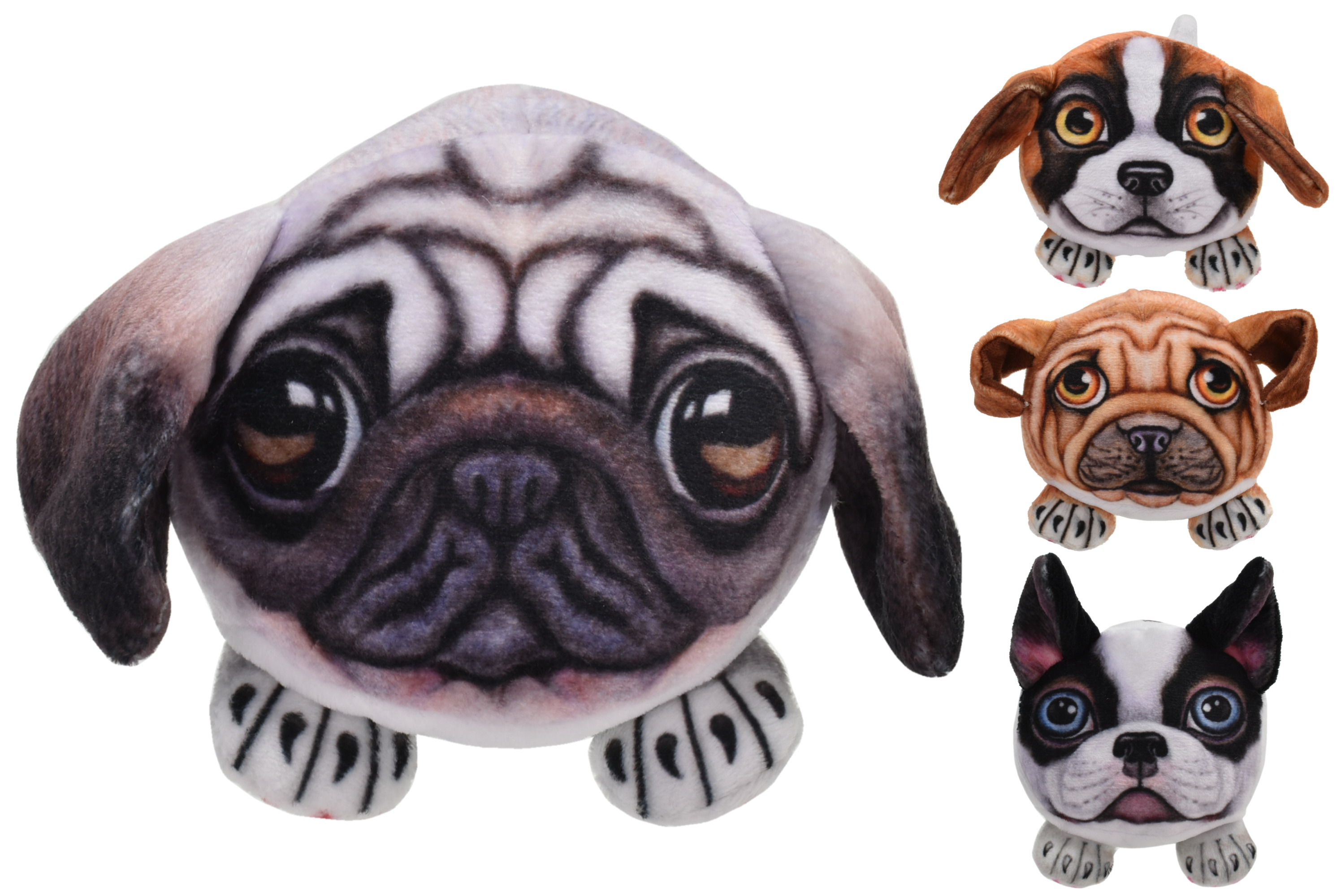 """3.5"""" Beanie Dogs - 4 Assorted"""