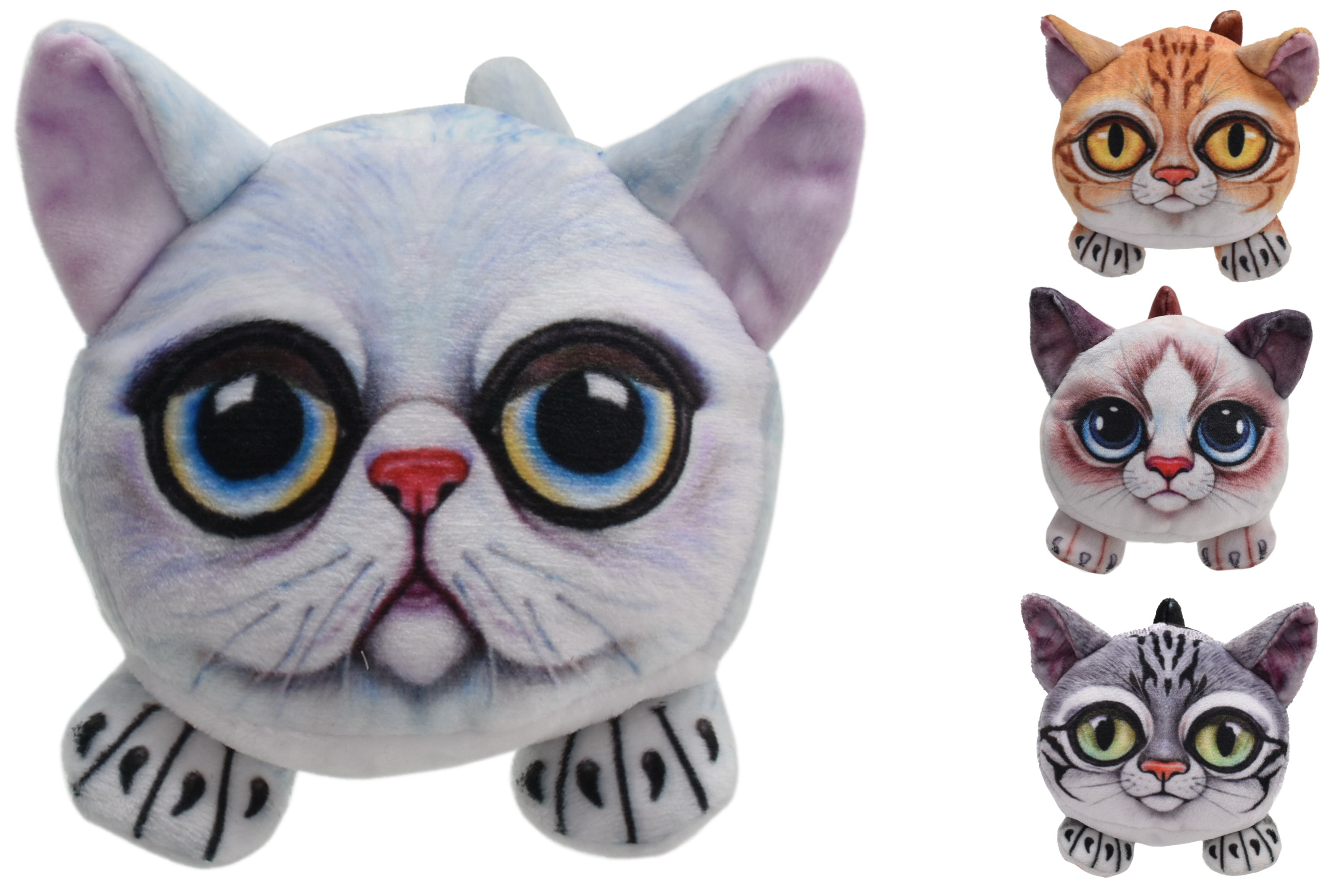 """3.5"""" Beanie Cats - 4 Assorted"""