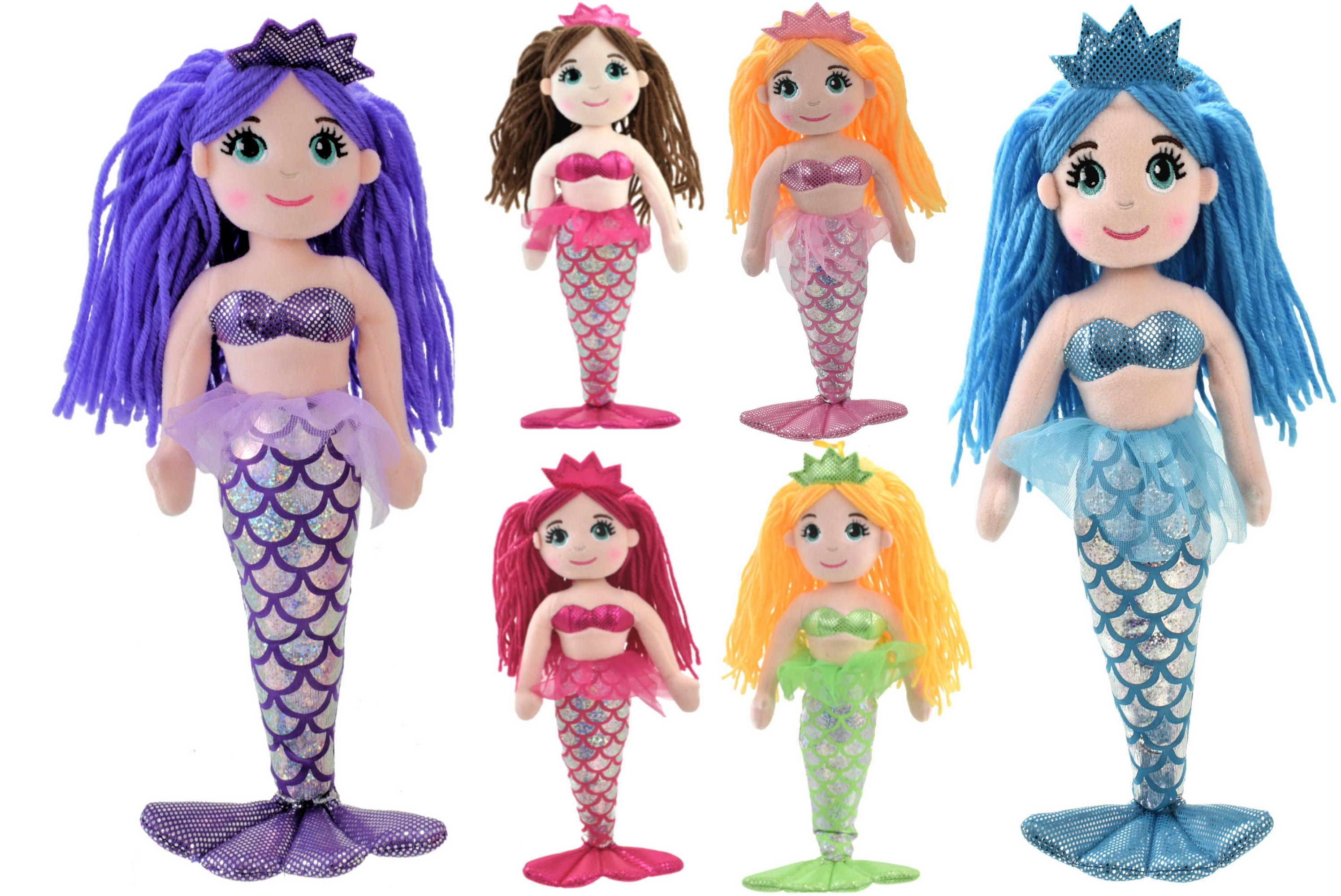 35cm Plush Mermaid - 6 Assorted Colours