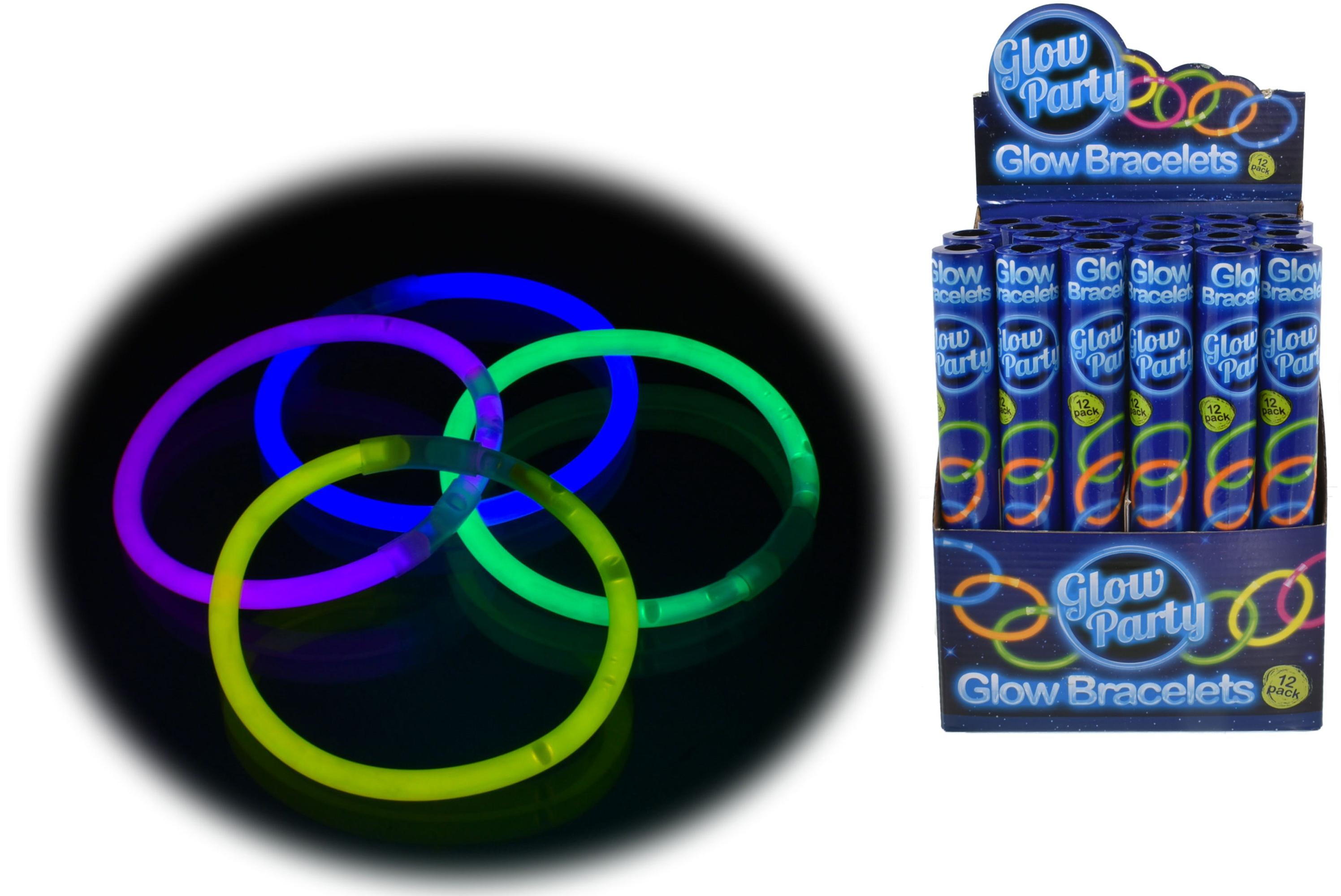 12pc Glow Bracelet In Colour Tube & Display Box