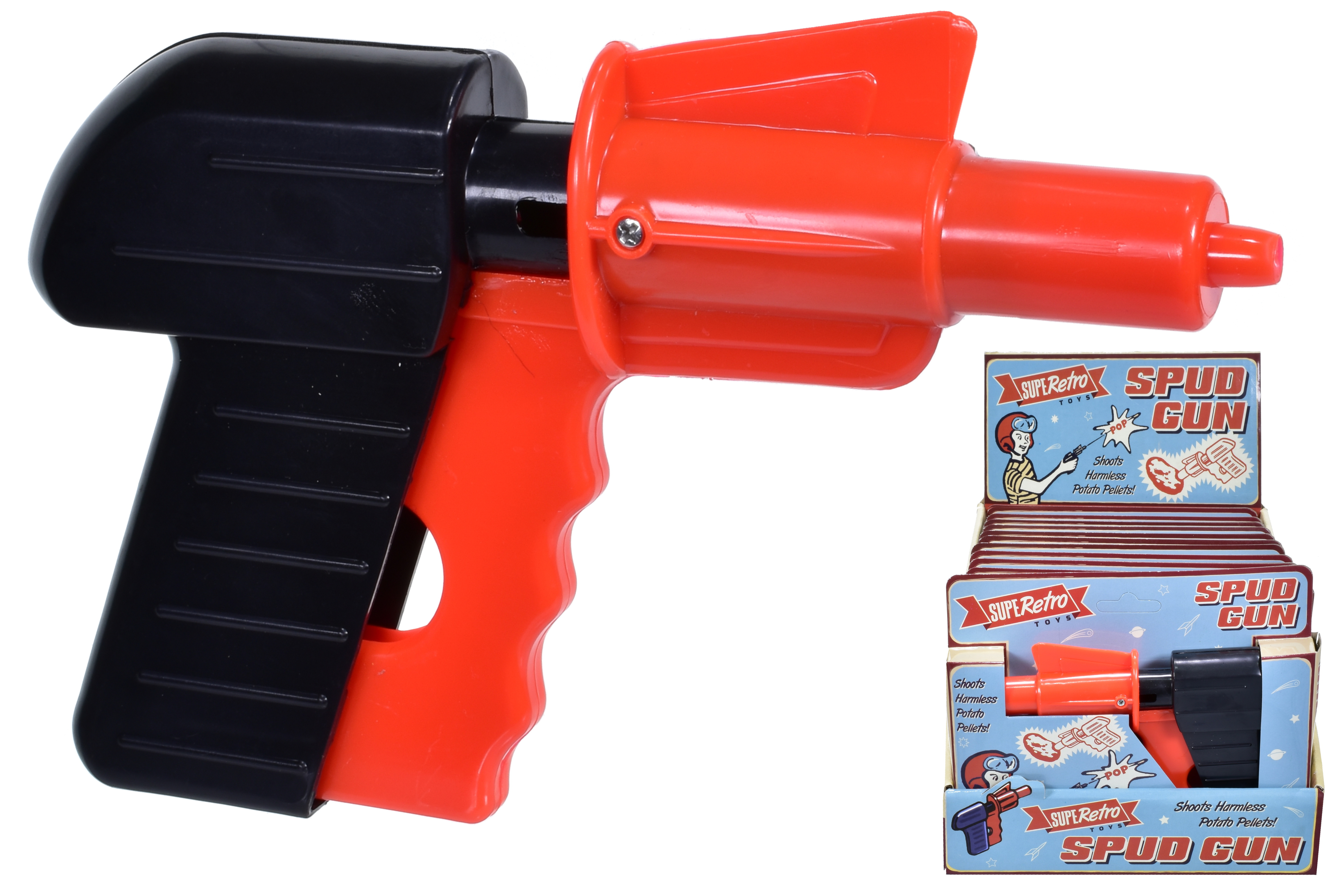 Spud Gun In Open Touch Hanging Box With Display Box