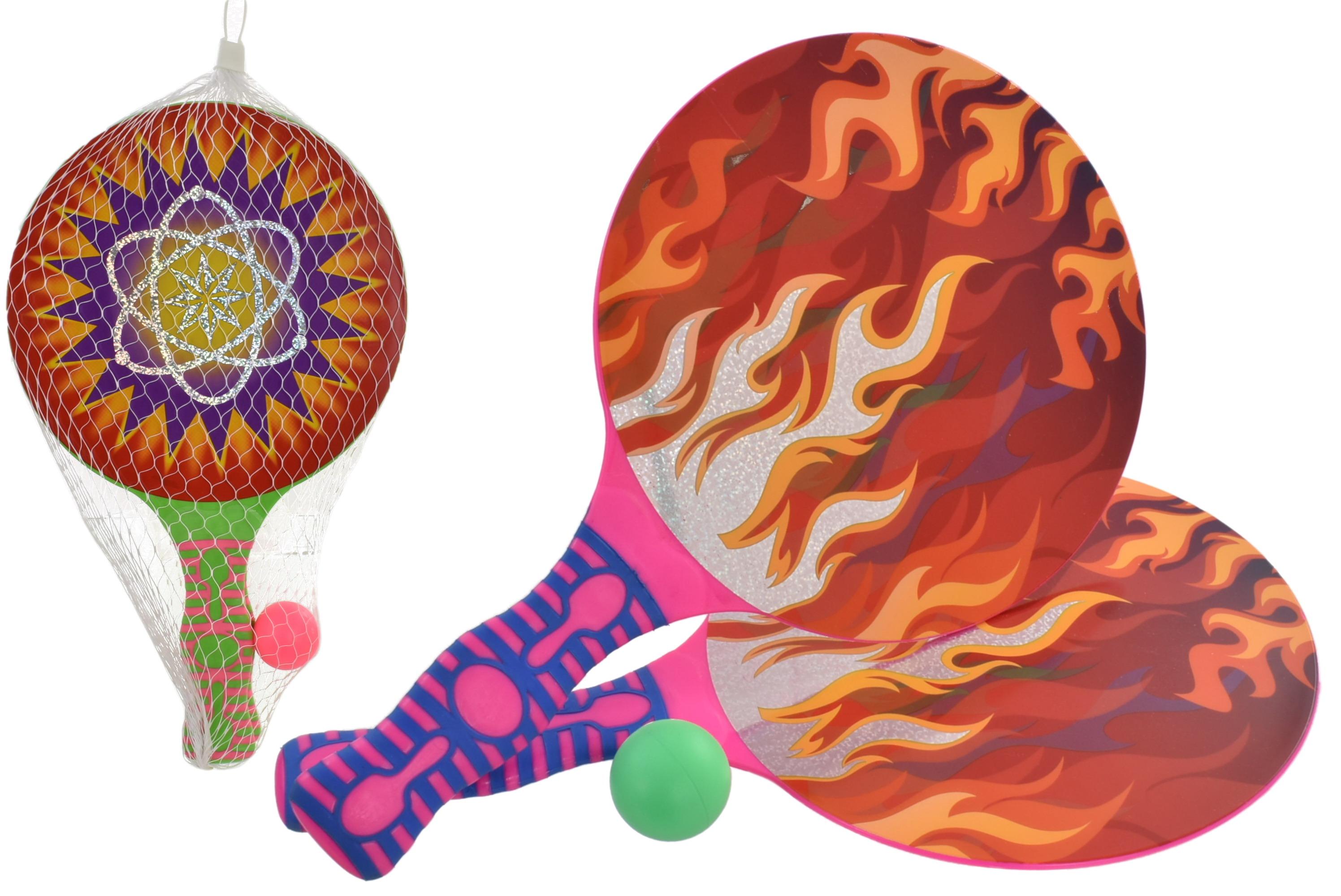 Plastic 2 Player Bat & Ball Set 2 Asst Designs & Cols