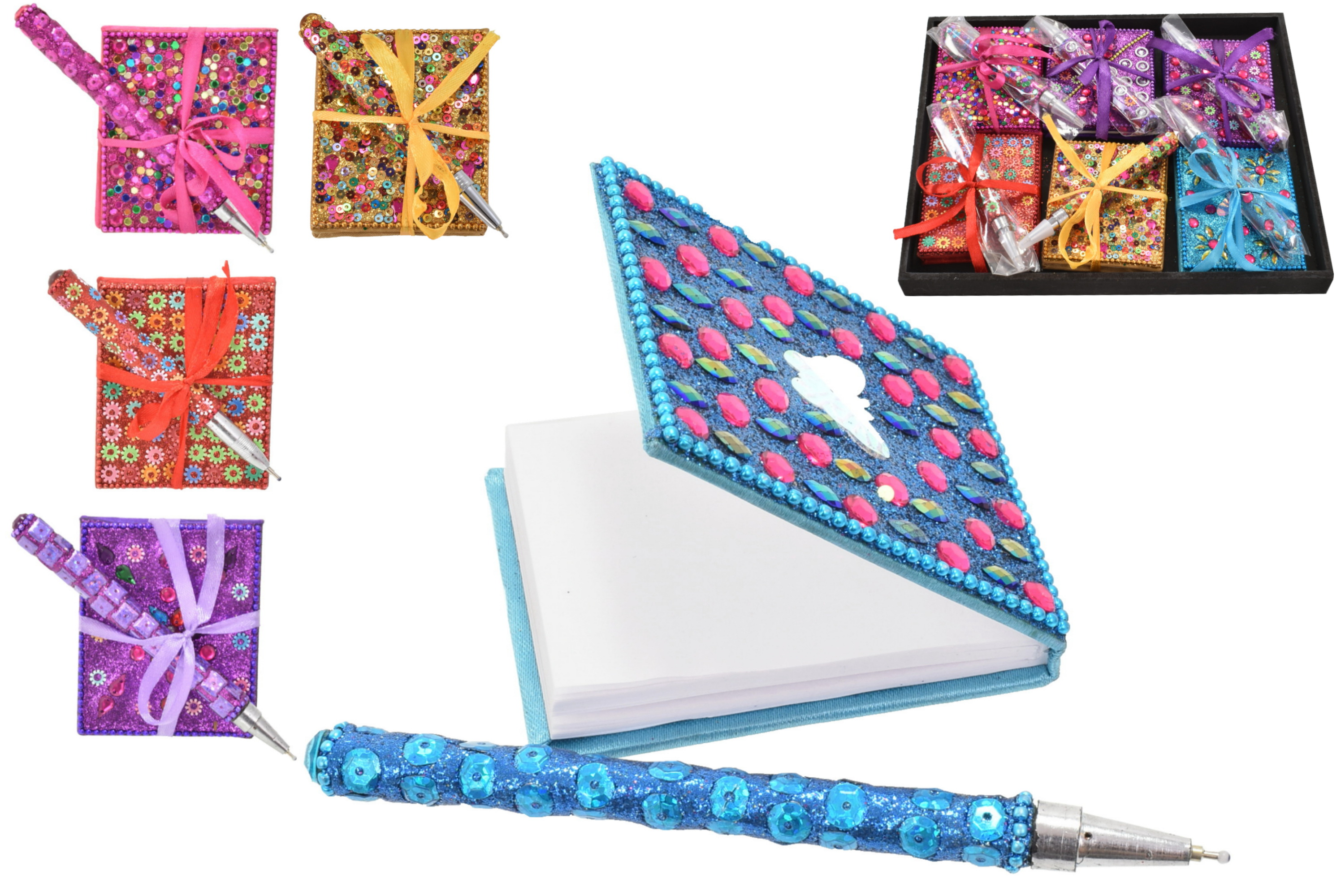 8cm Glitter Notepad With Pen
