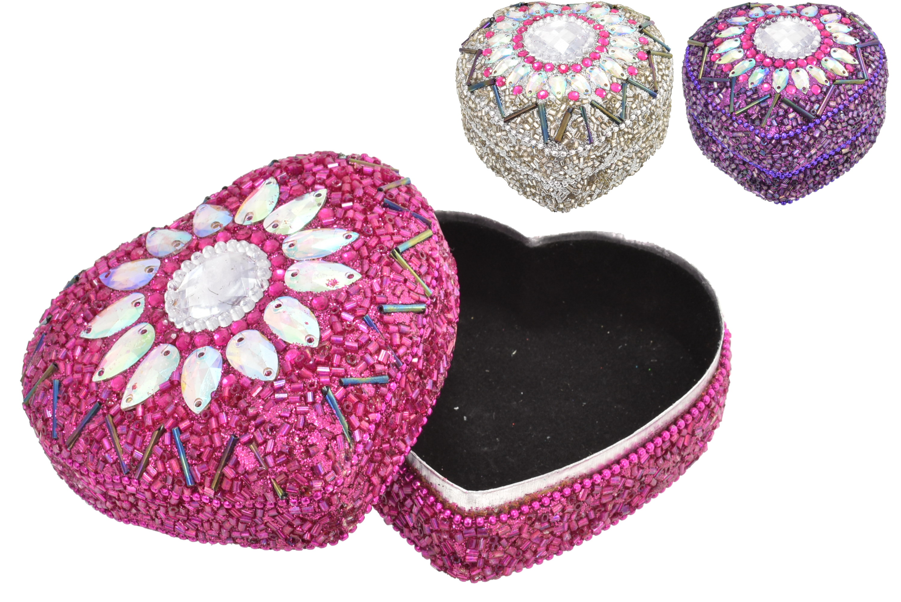 10cm Heart Trinket Box 4 Assorted Designs