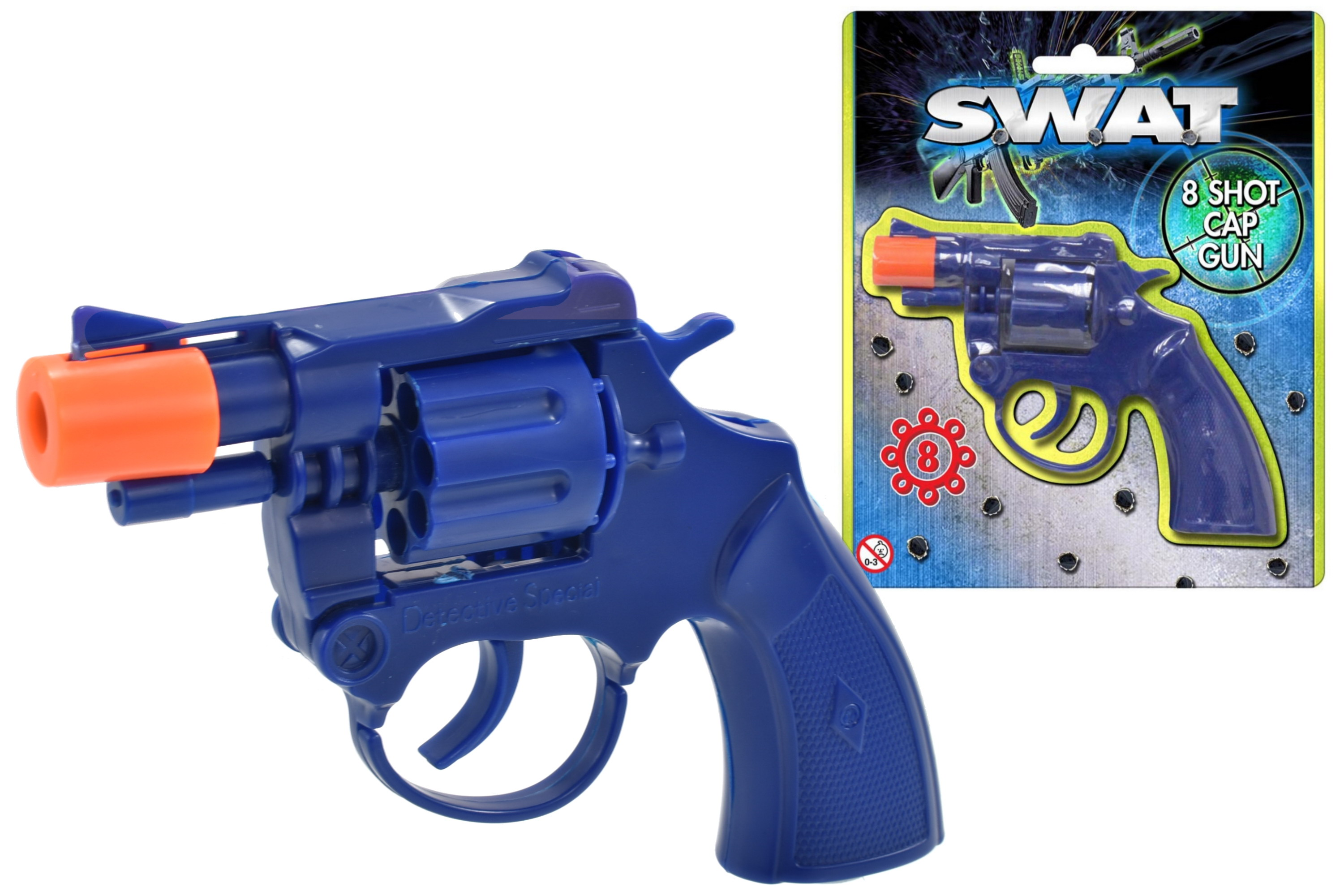 "Plastic Cap Gun On Blistercard ""Swat"""
